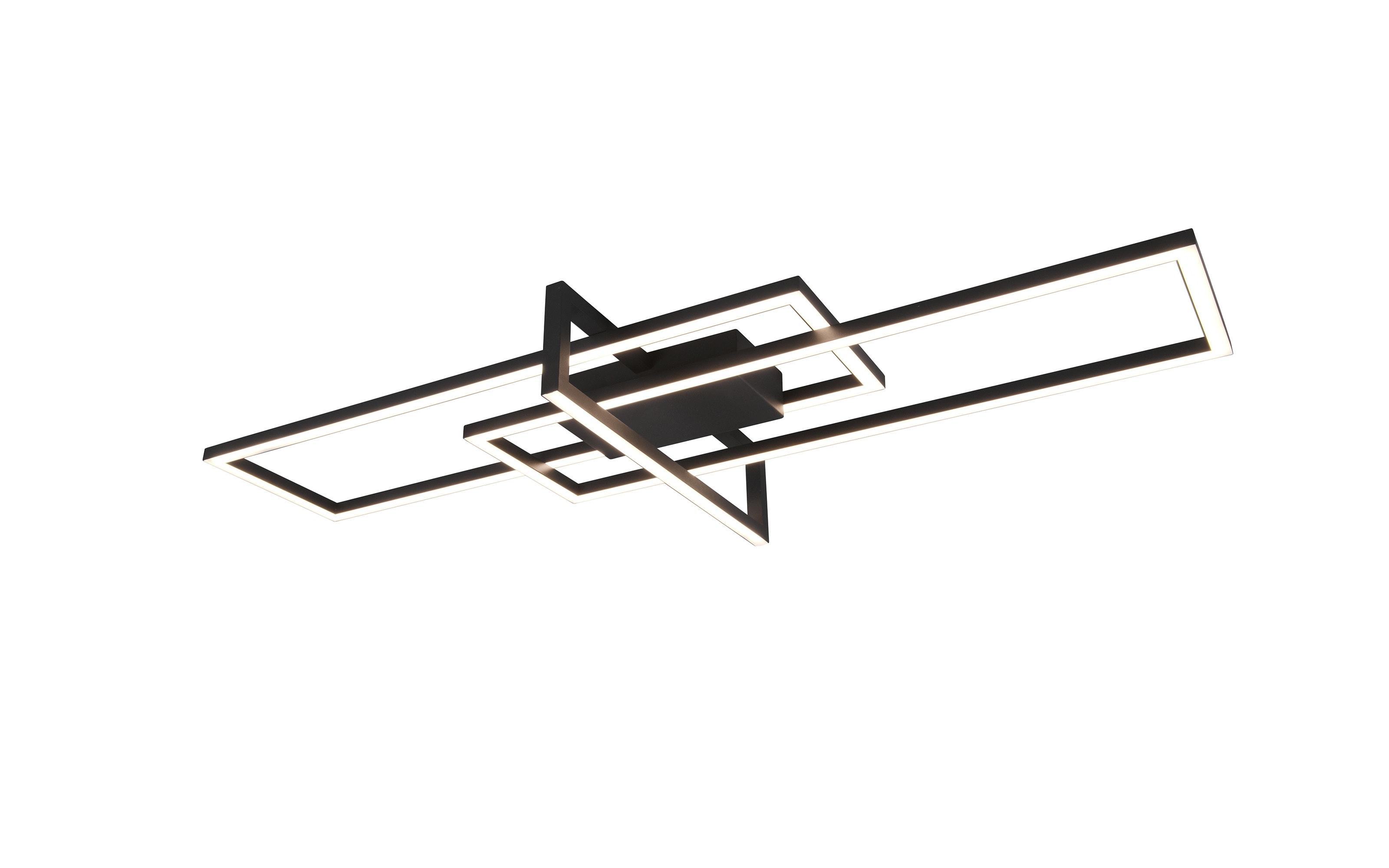 LED-Deckenleuchte Salinas in schwarz, 100 cm