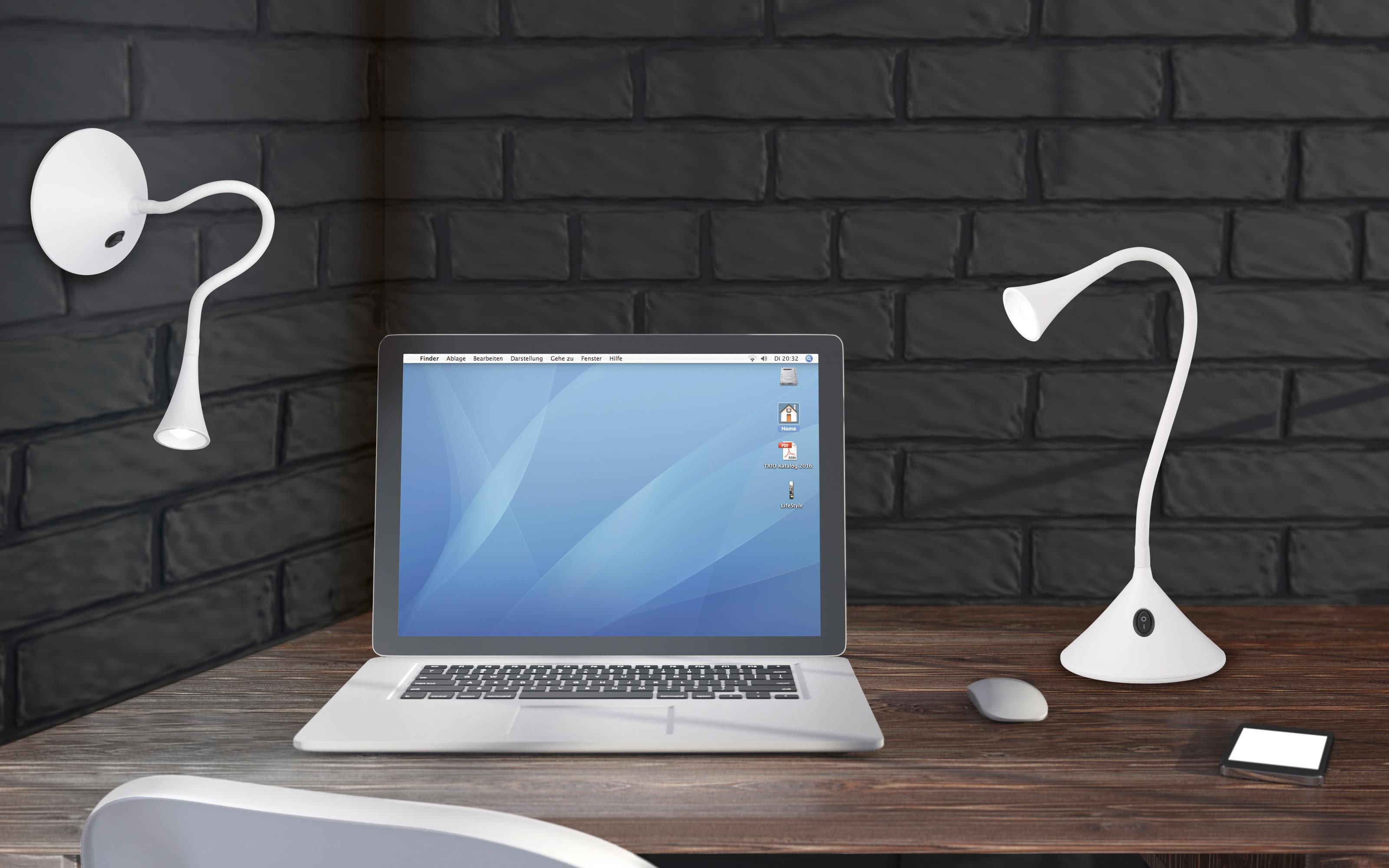 LED Tischleuchte Viper in weiß