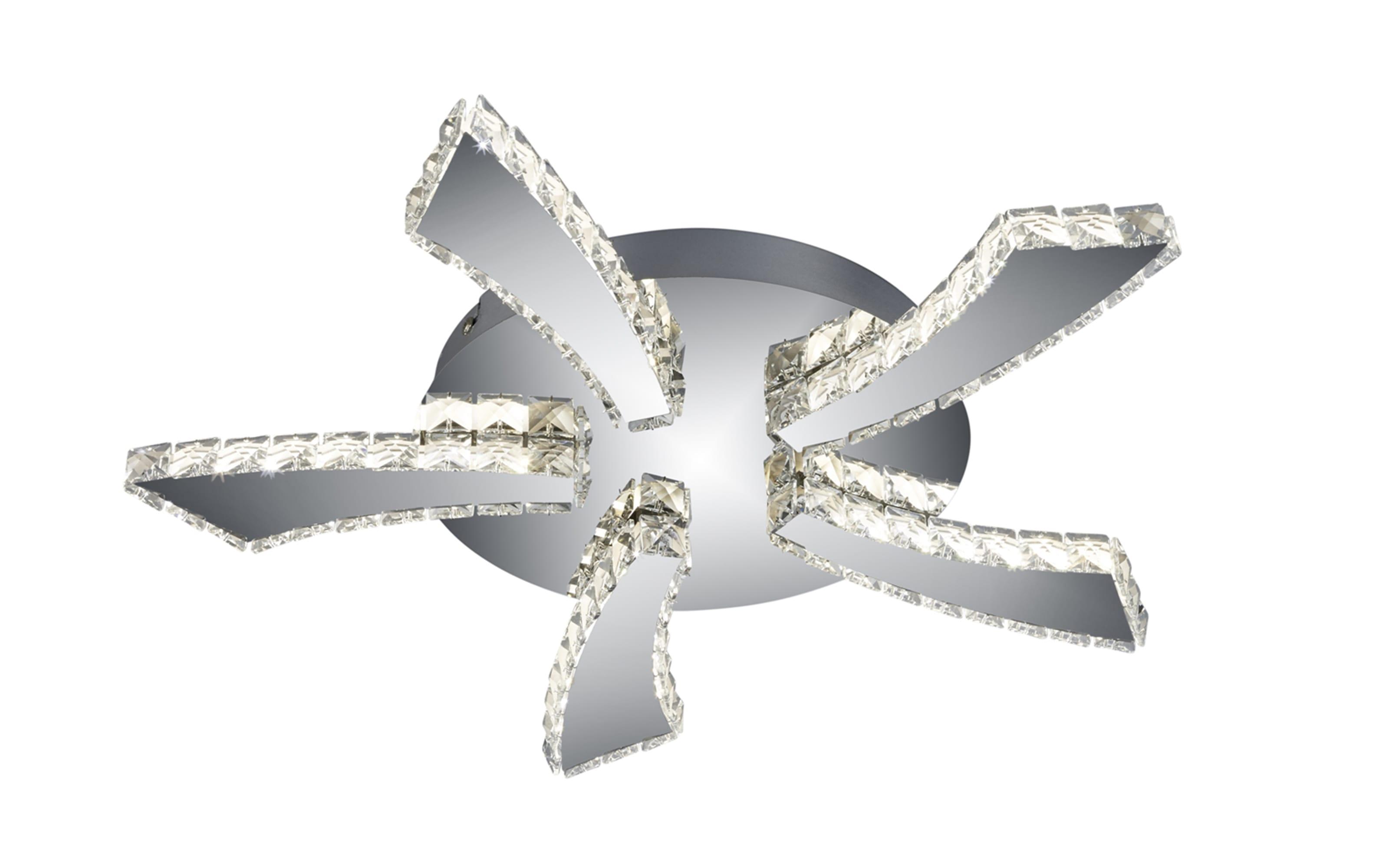 LED-Wandleuchte Phin in chromfarbig, 30 W