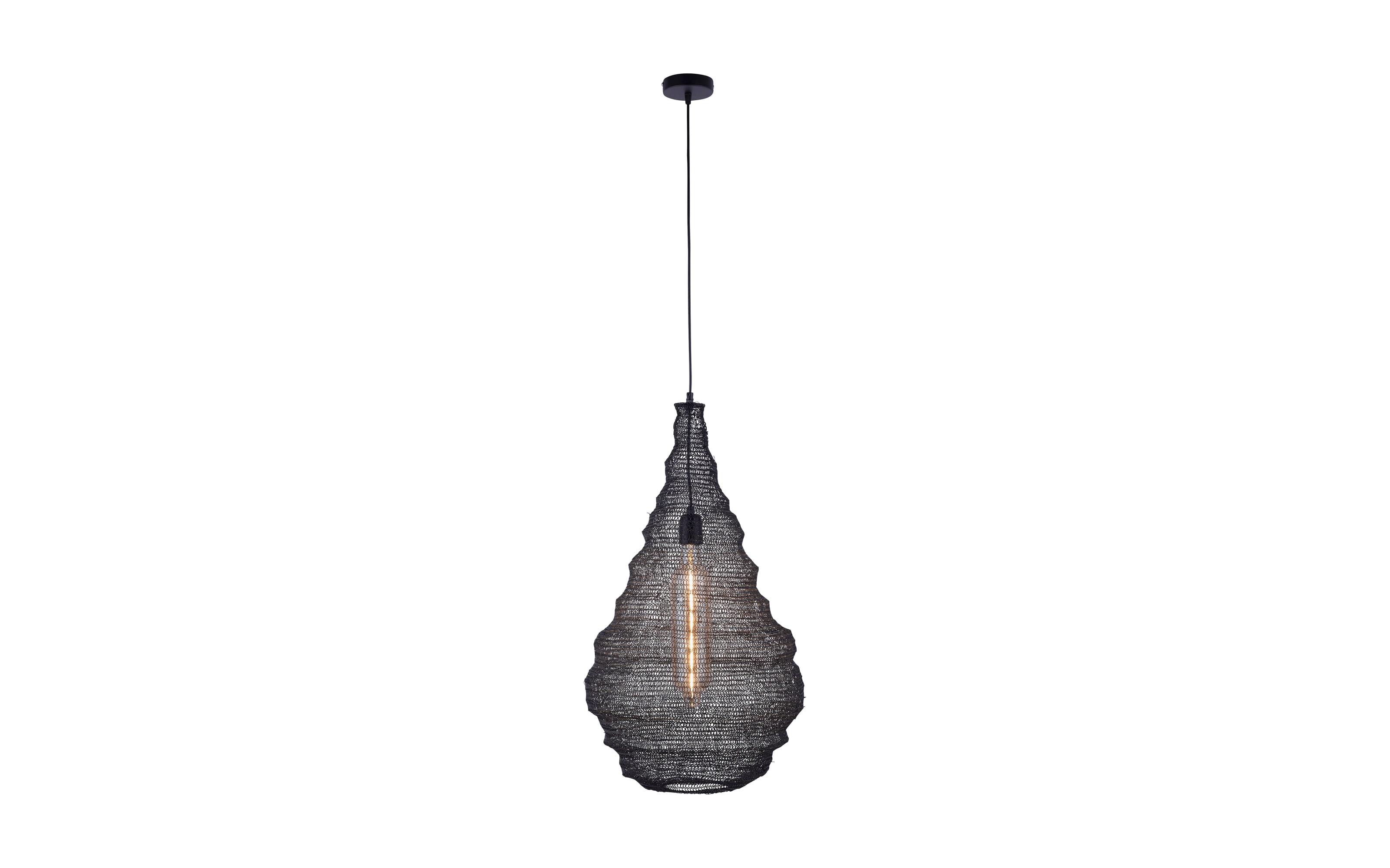 Pendelleuchte Kokon in schwarz, 41 cm