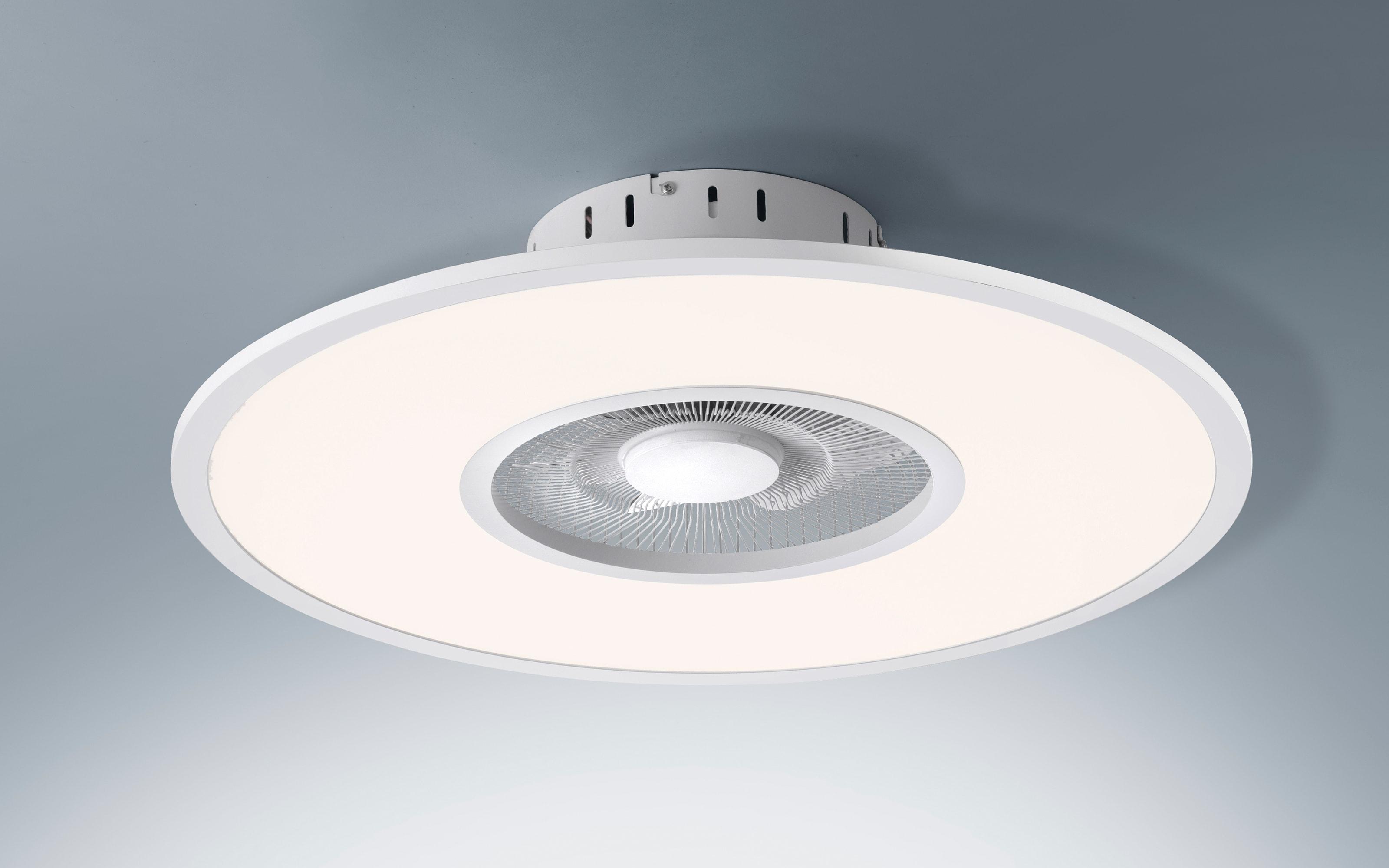 LED-Deckenleuchte/Ventilator Flat-Air CCT in weiß, 59,5 cm