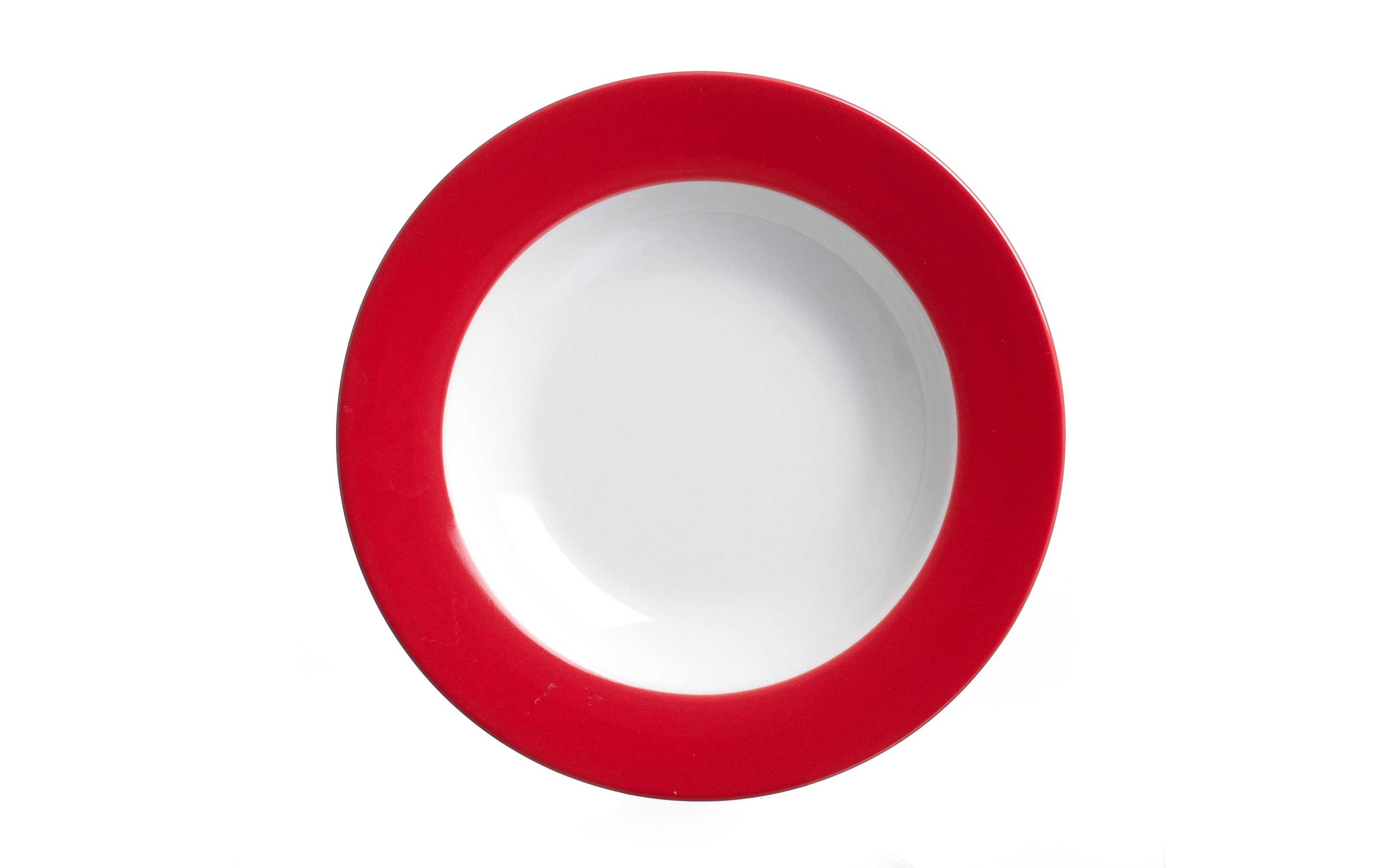 Suppenteller Doppio in rot, 22 cm