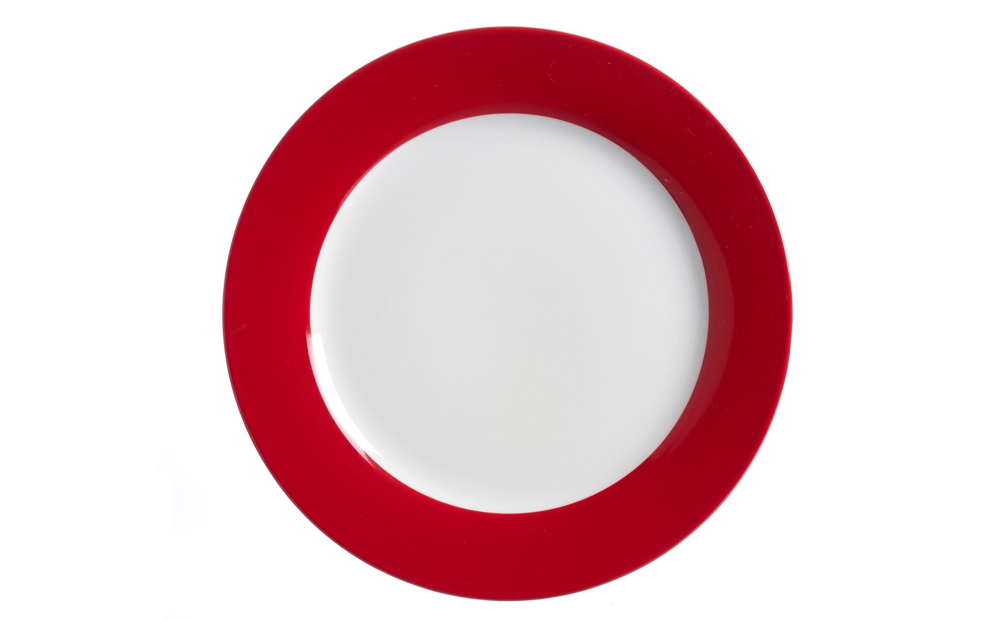 Speiseteller Doppio in rot, 27 cm