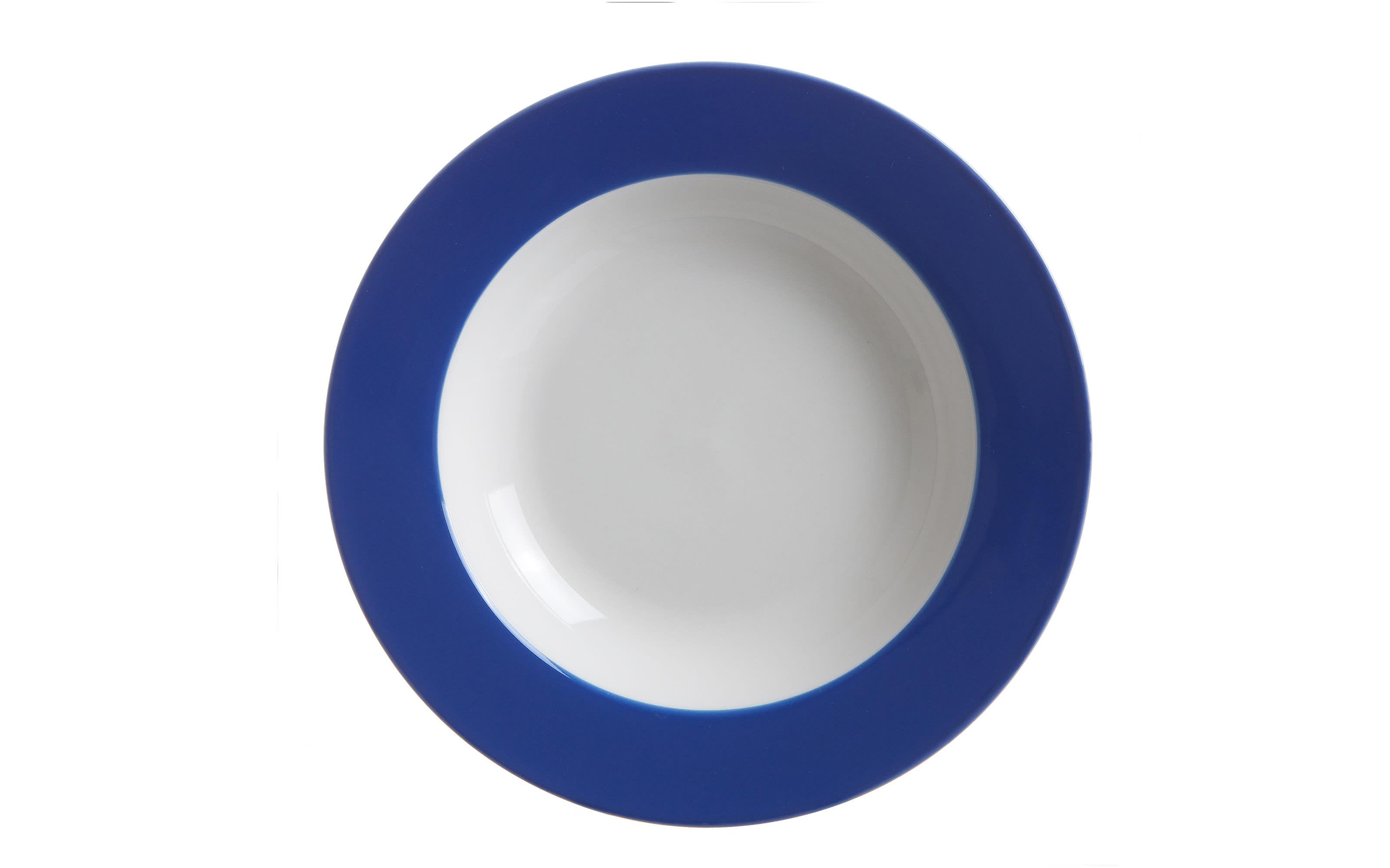 Suppenteller Doppio in indigo, 22 cm