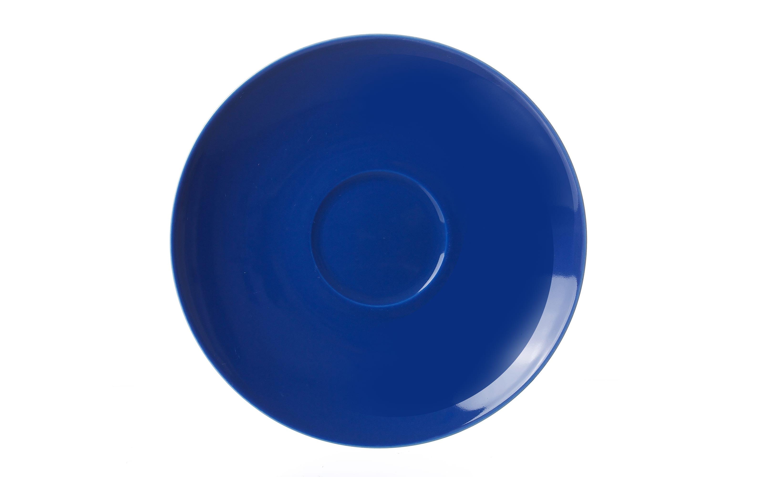 Untertasse Doppio in indigo, 16 cm