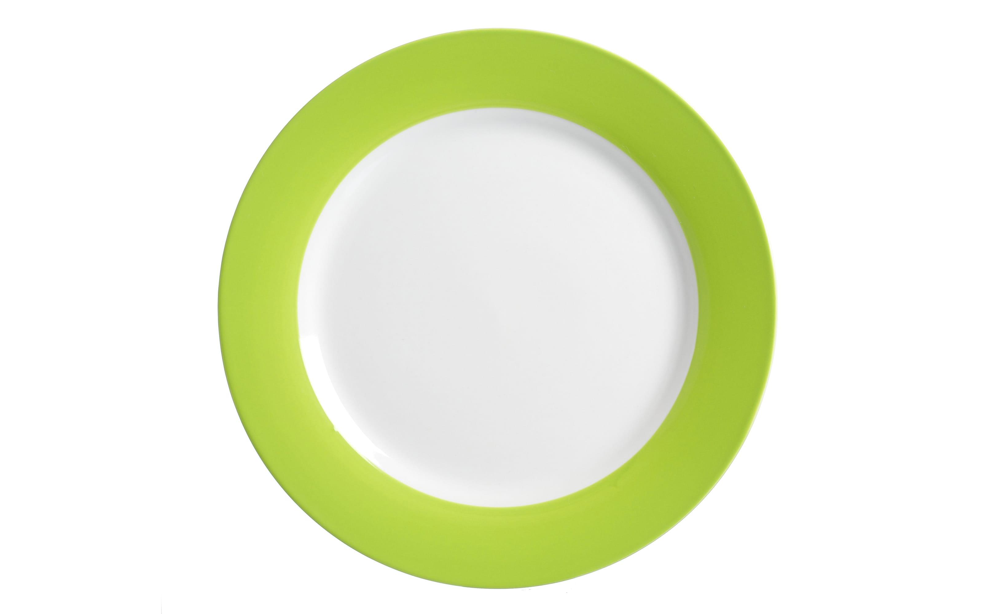 Speiseteller Doppio in grün, 27 cm