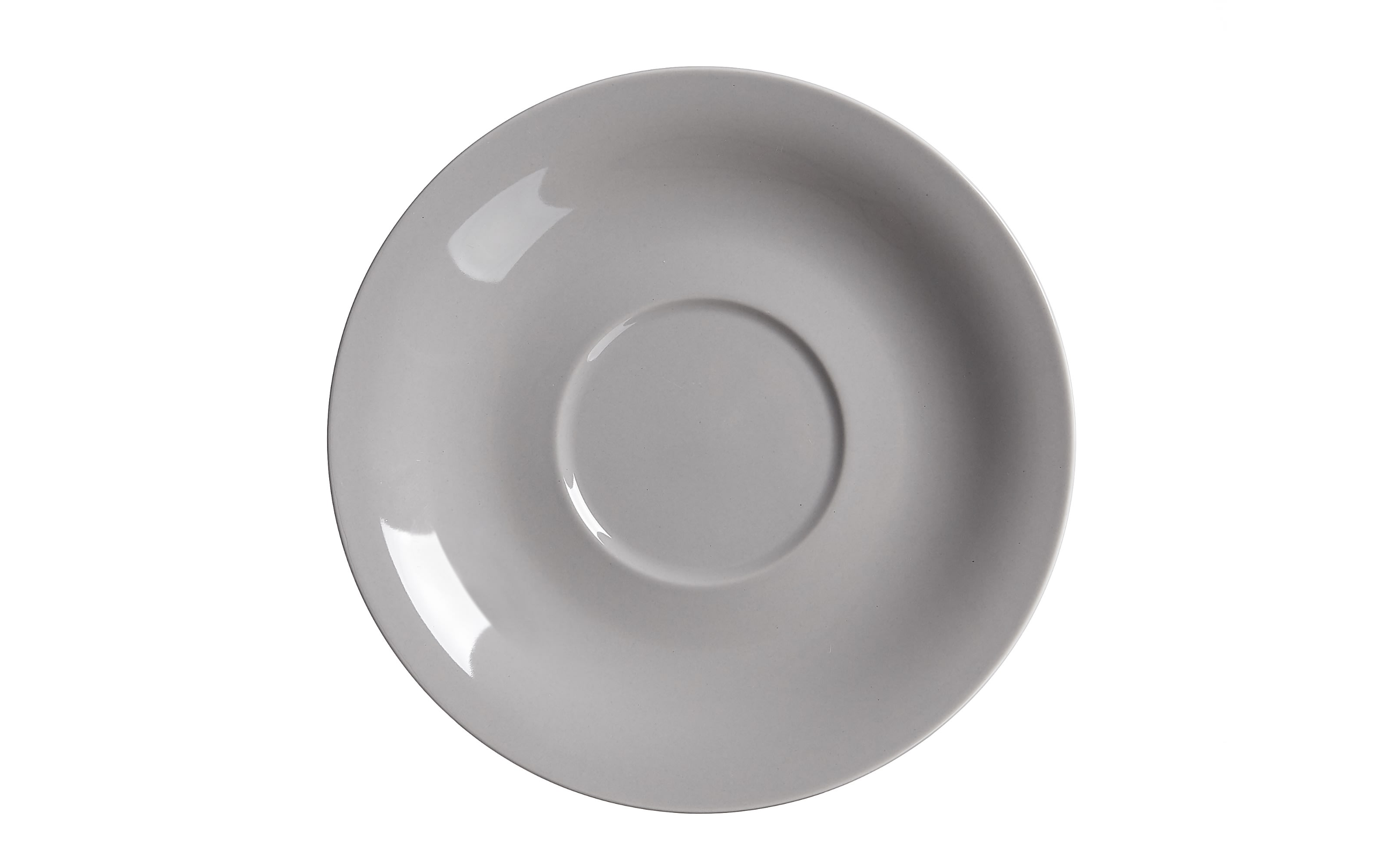 Jumbo Untertasse Doppio in grau, 17 cm