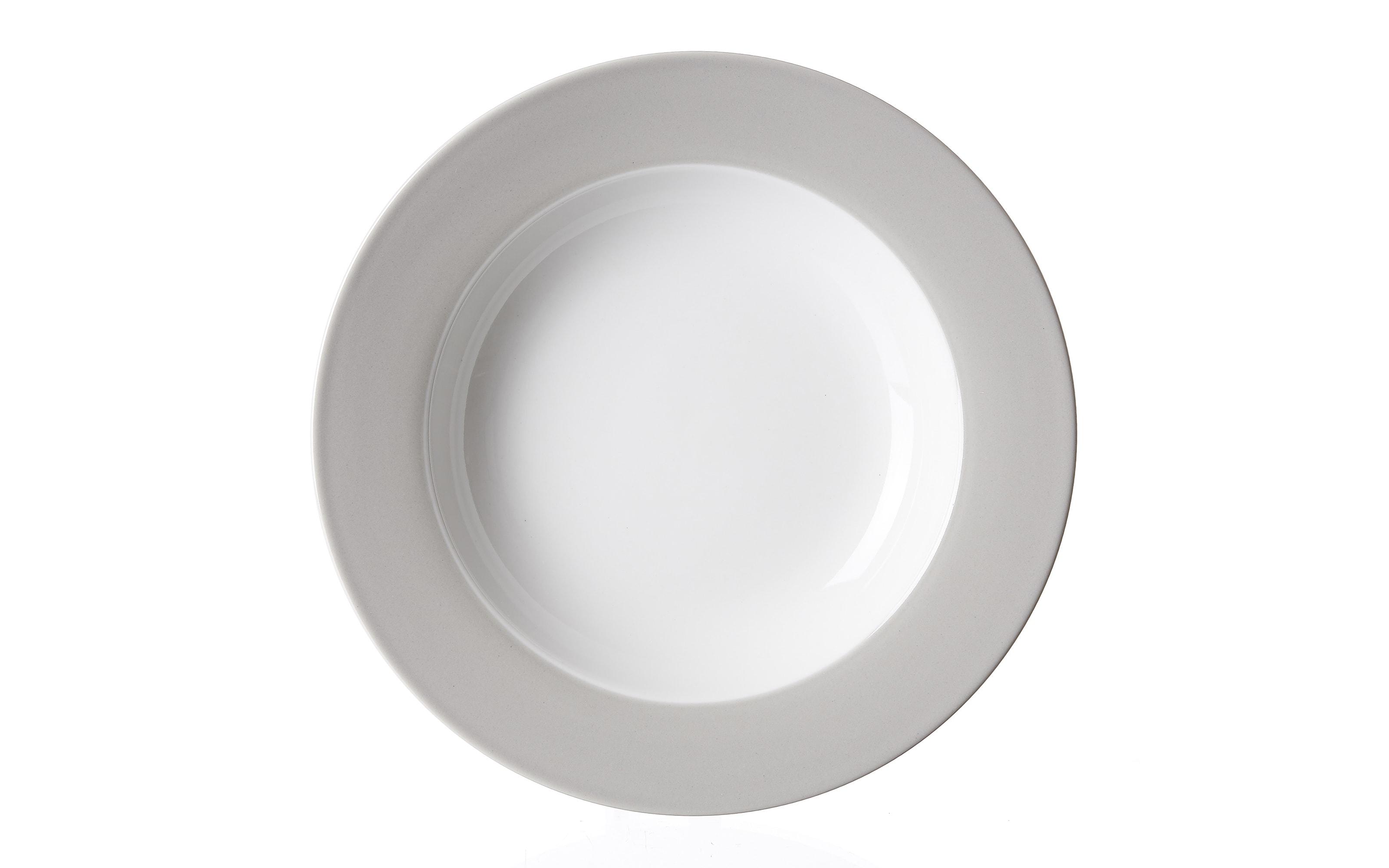 Suppenteller Doppio in grau, 22 cm