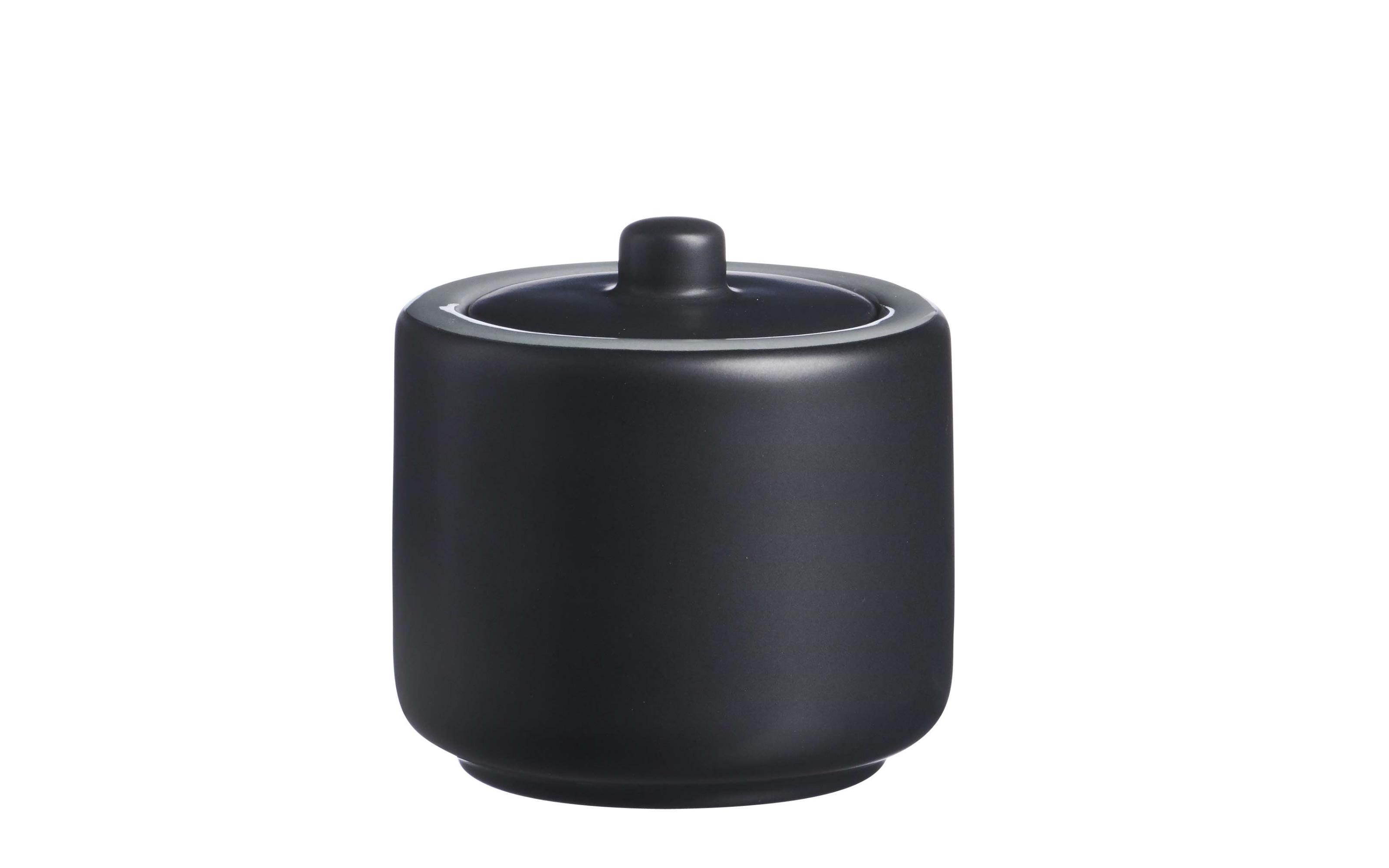 Zuckerdose Jasper in schwarz