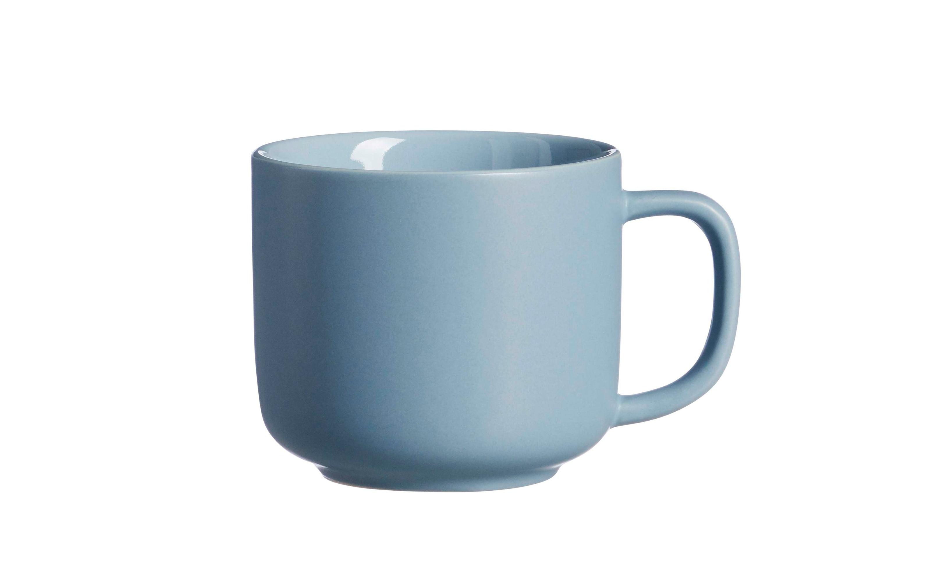 Obere Kaffeetasse Jasper in graublau, 240 ml