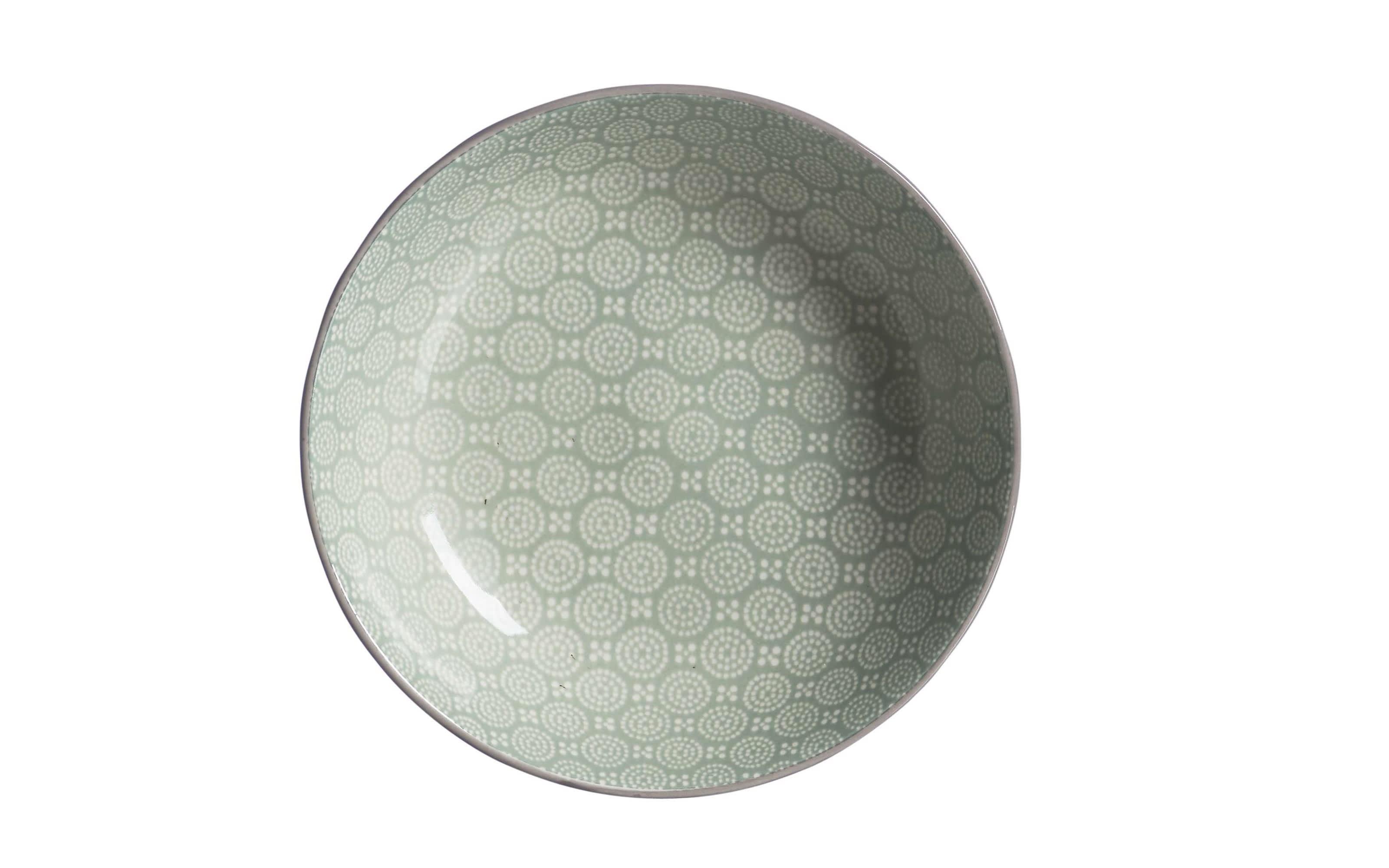 Schale flach Weekend in grün, 14 cm