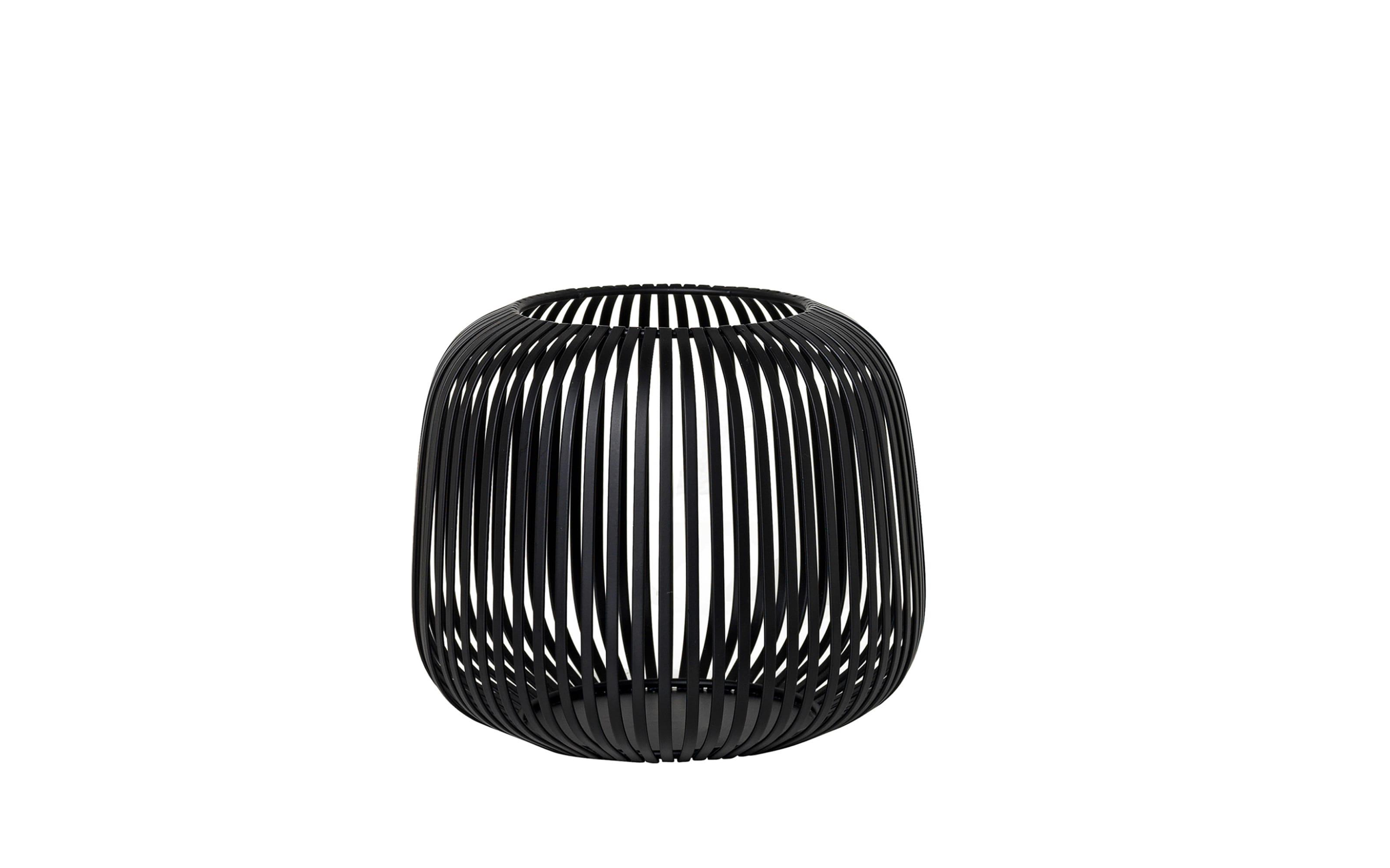 Laterne Lito in schwarz, 20,8 x 17,5 x 20,8 cm