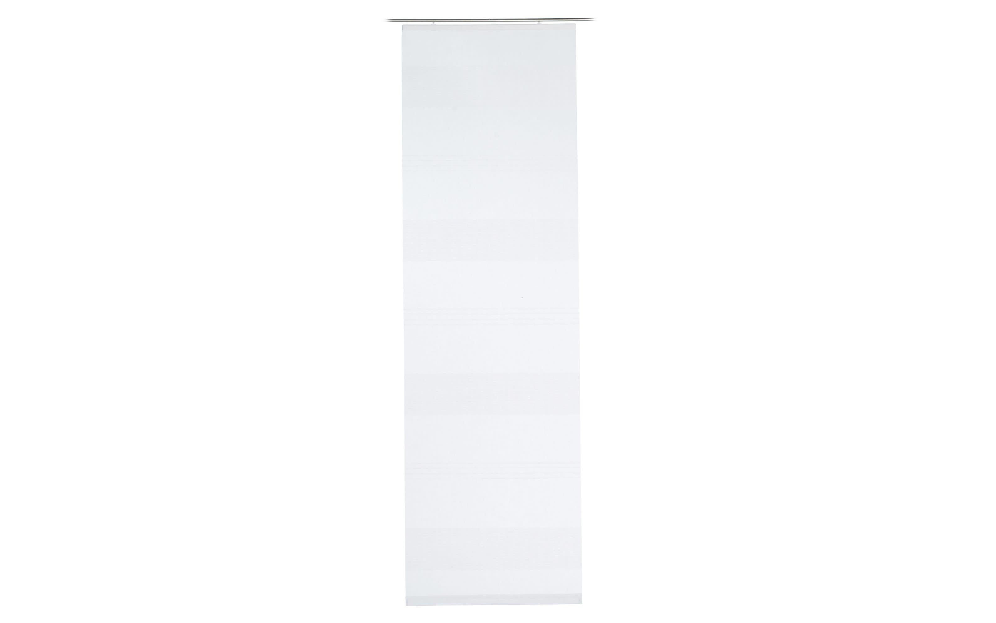 Schiebevorhang Rustico in weiß, 60 x 245 cm