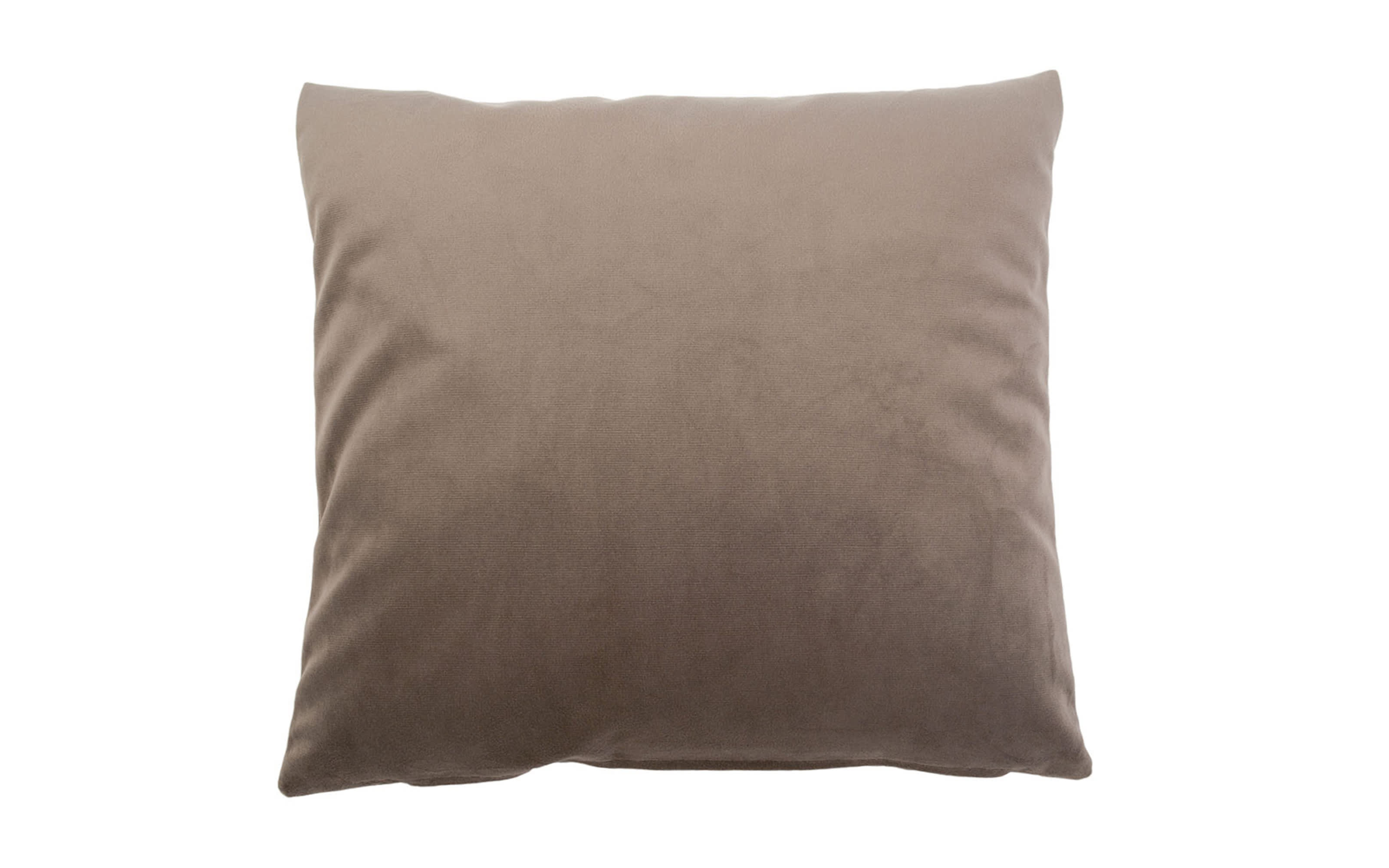 Kissenhülle Duval in taupe, 60 x 60 cm