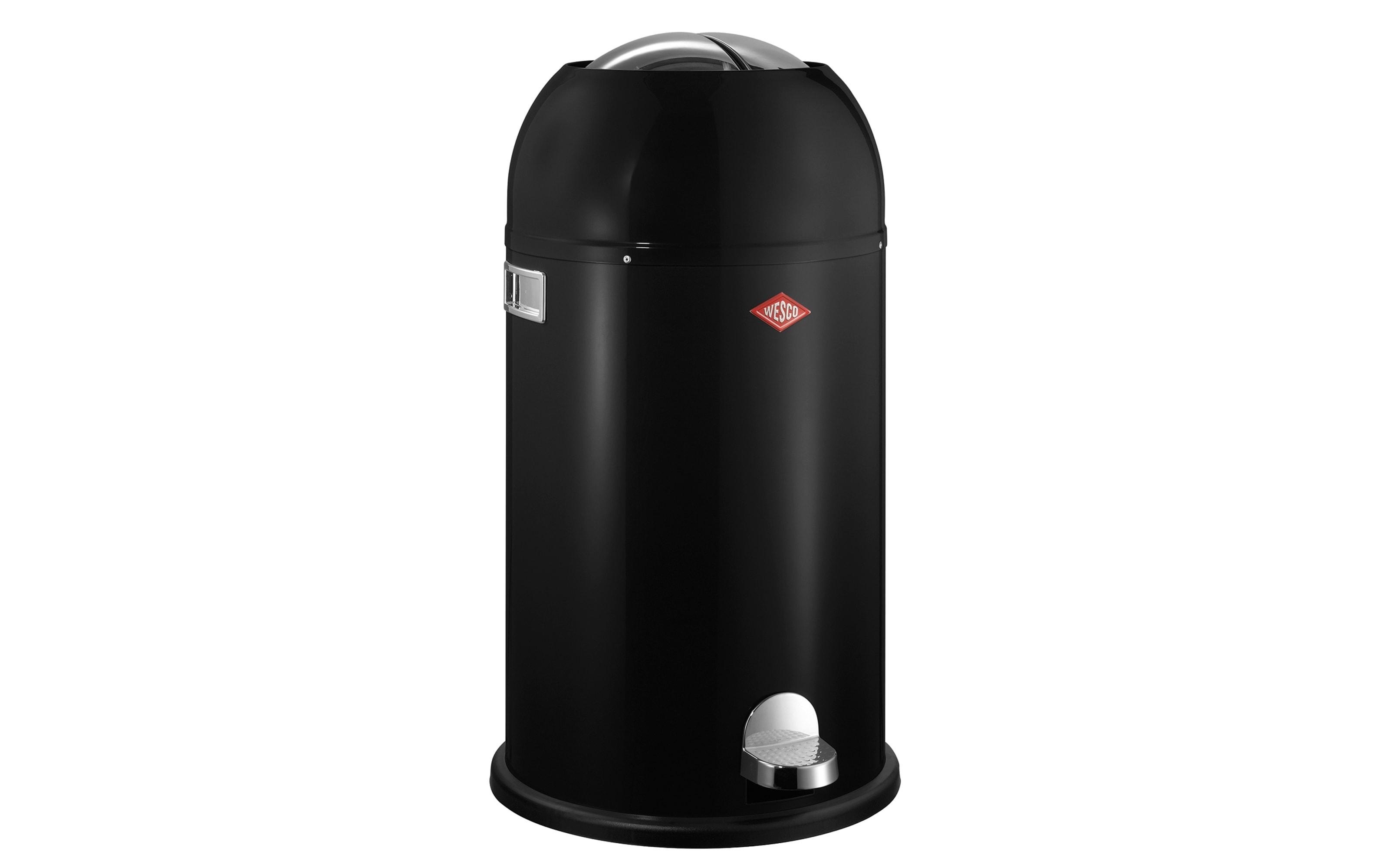 Abfalleimer Kickmaster in schwarz, 33 l