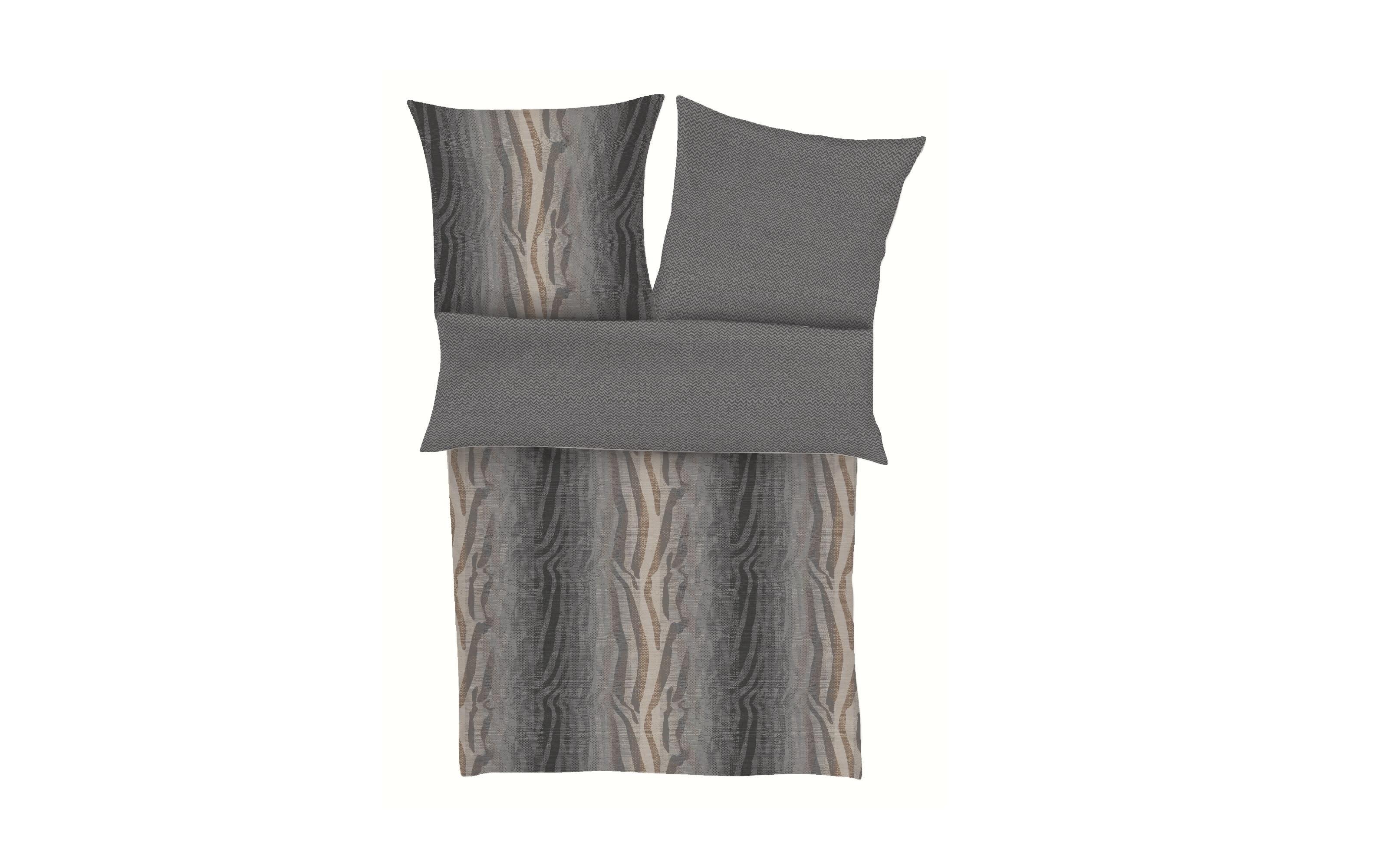 Bettwäsche Satin in grau, 135 x 200 cm