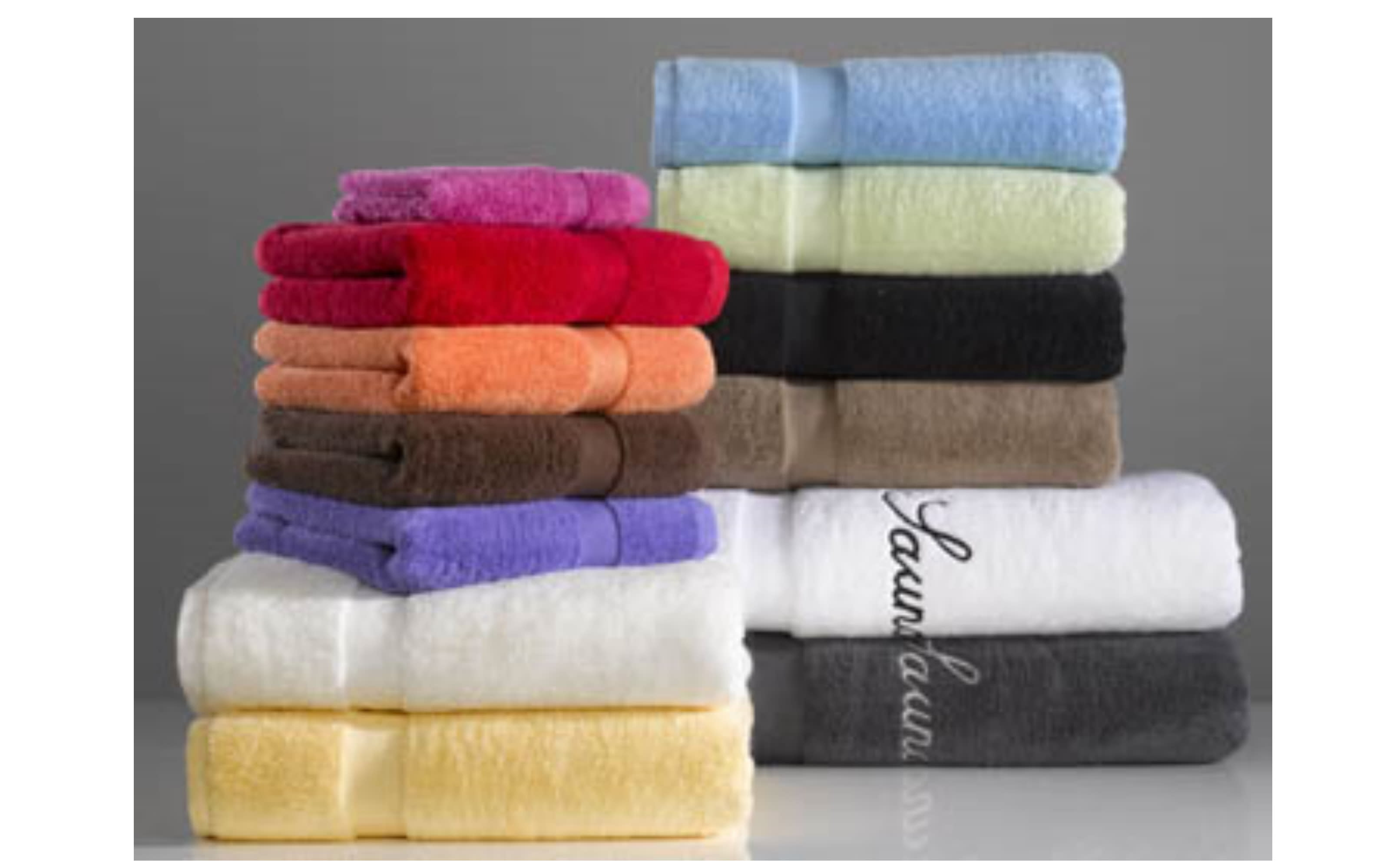 Handtuch in anthrazit, 50 x 100 cm