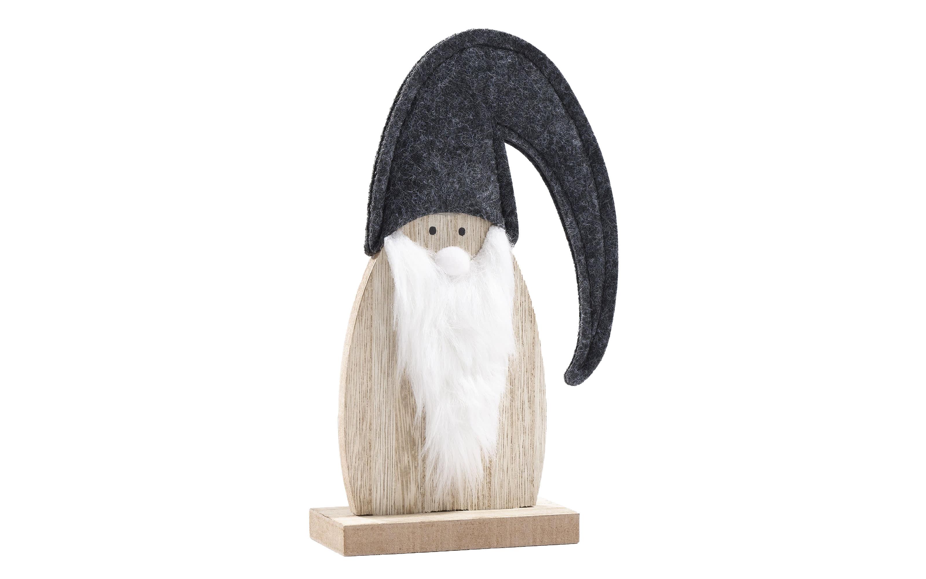 Weihnachtsmannfigur in grau, 20 cm