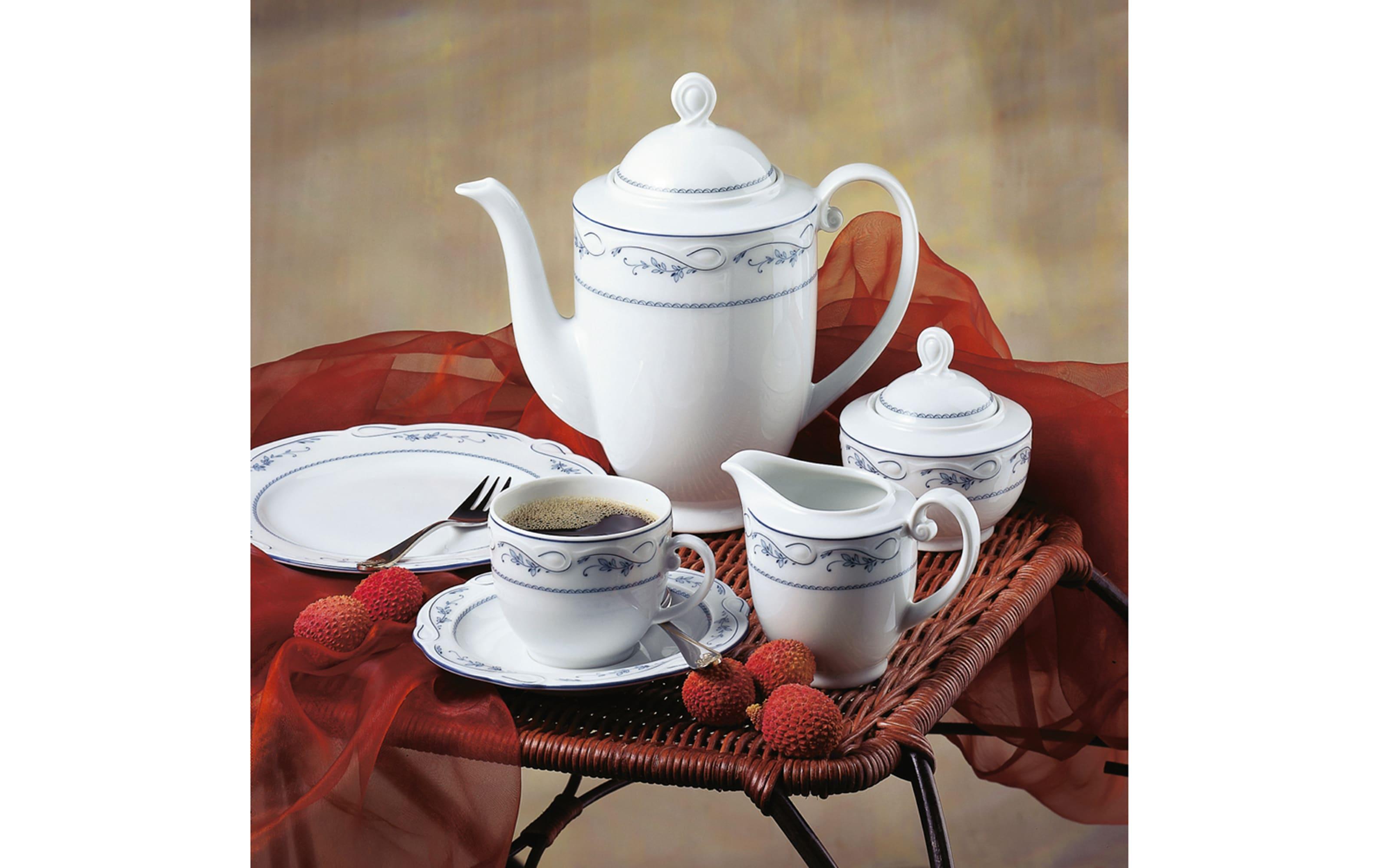 Kaffeeuntertasse Desiree Aalborg in weiß, 14,5 cm
