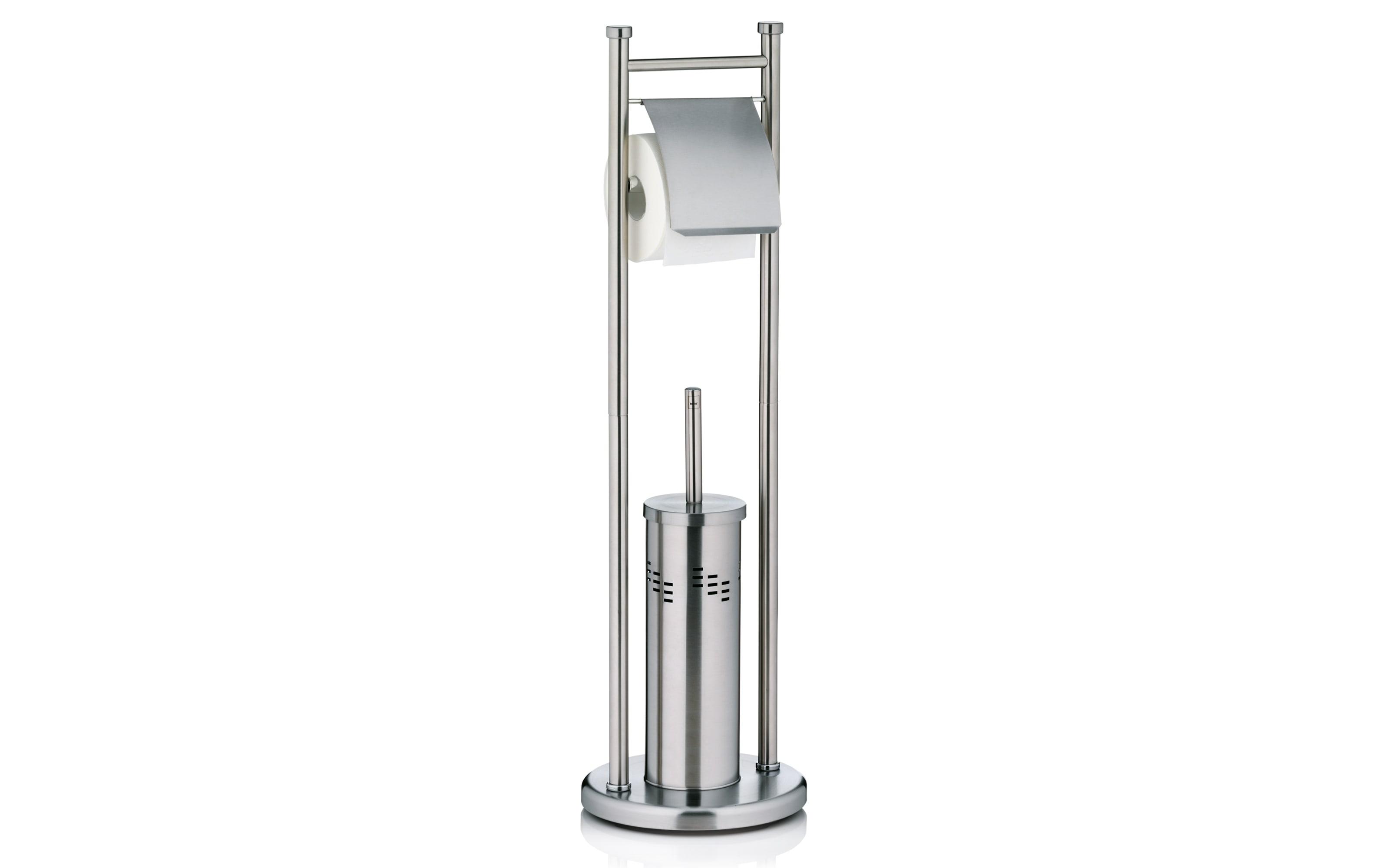Toilettengarnitur Swing aus Edelstahl, 77 cm
