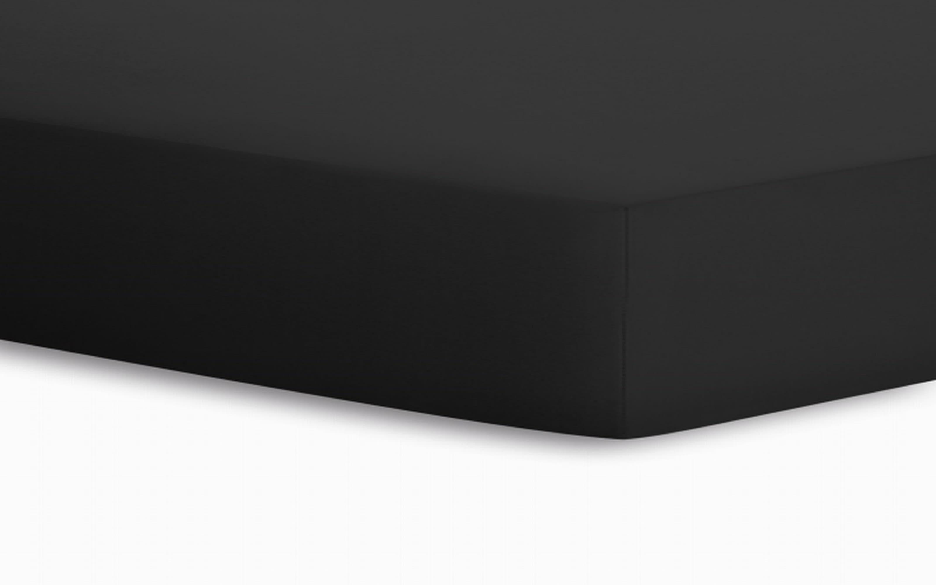 Spannbetttuch Jersey in schwarz, 100 x 200 cm