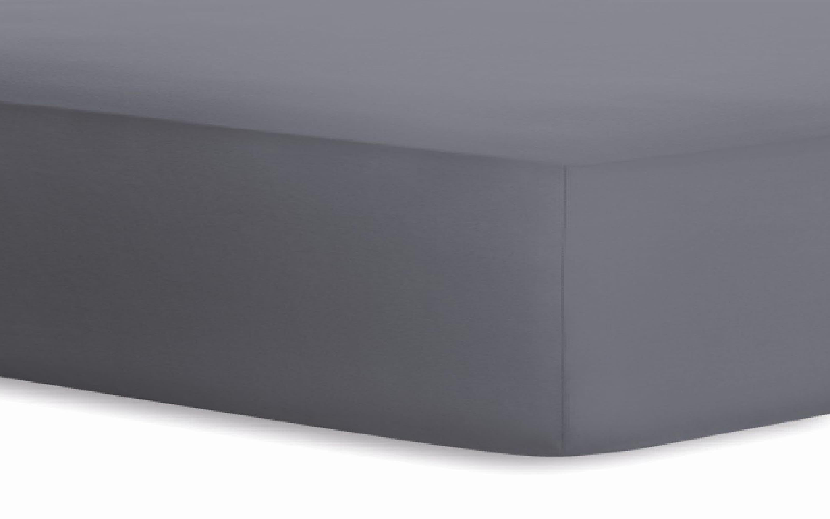 Boxspringspannbetttuch Jersey-Elasthan in graphit, 120 x 200 x 40 cm