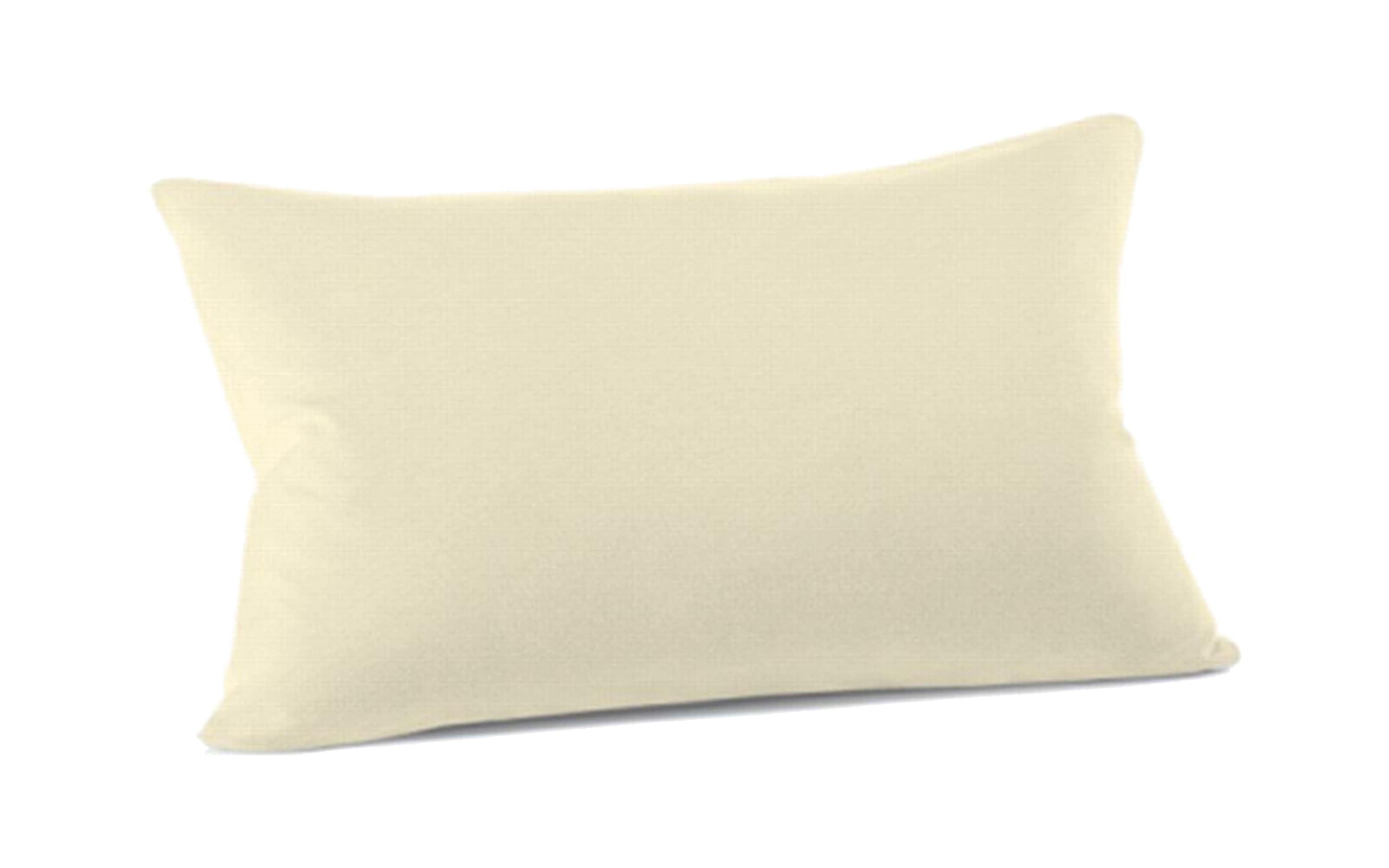 Kissenbezug Mako Jersey in ecru, 40 x 60 cm