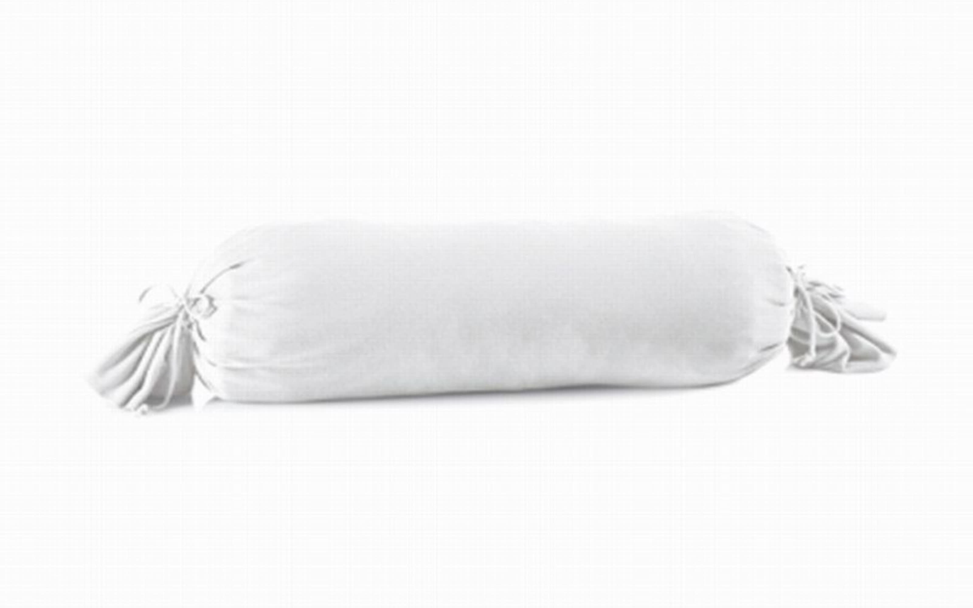 Kissenbezug Mako Jersey in weiß, 15 x 40 cm