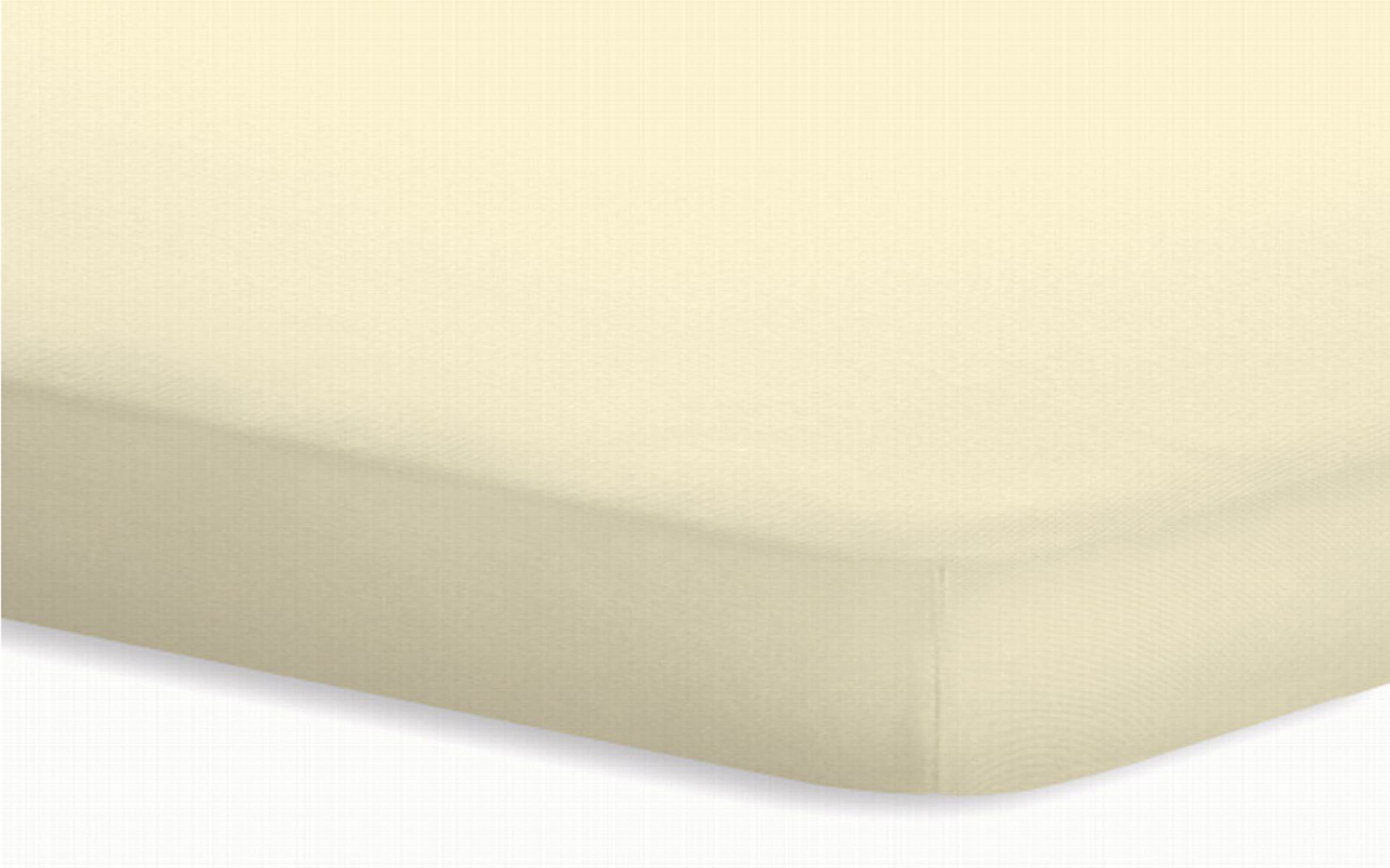 Topperspannbetttuch Jersey-Elasthan in ecru, 180 x 200 x 5 cm