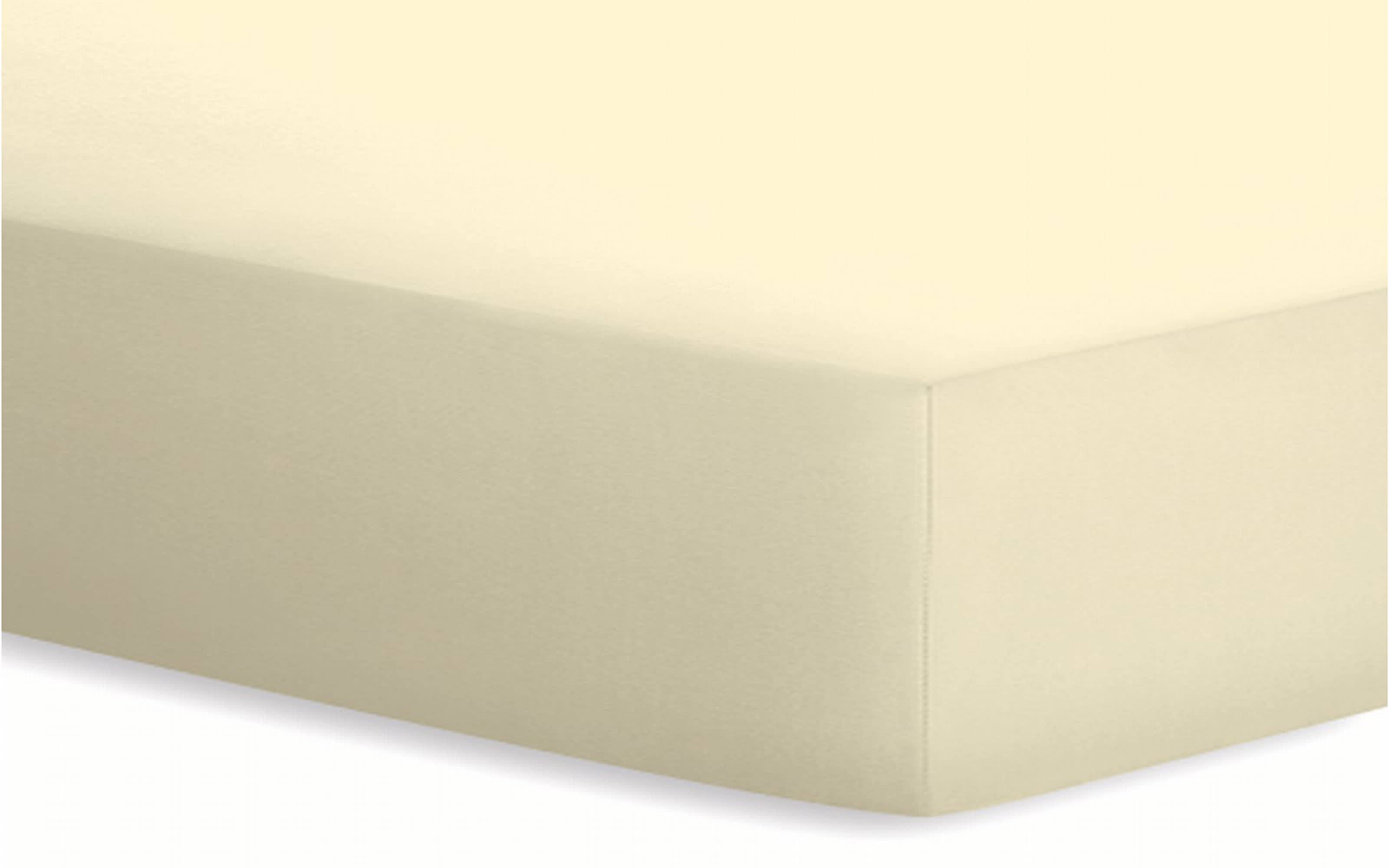 Spannbetttuch Basic in ecru, 140 x 200 x 25 cm