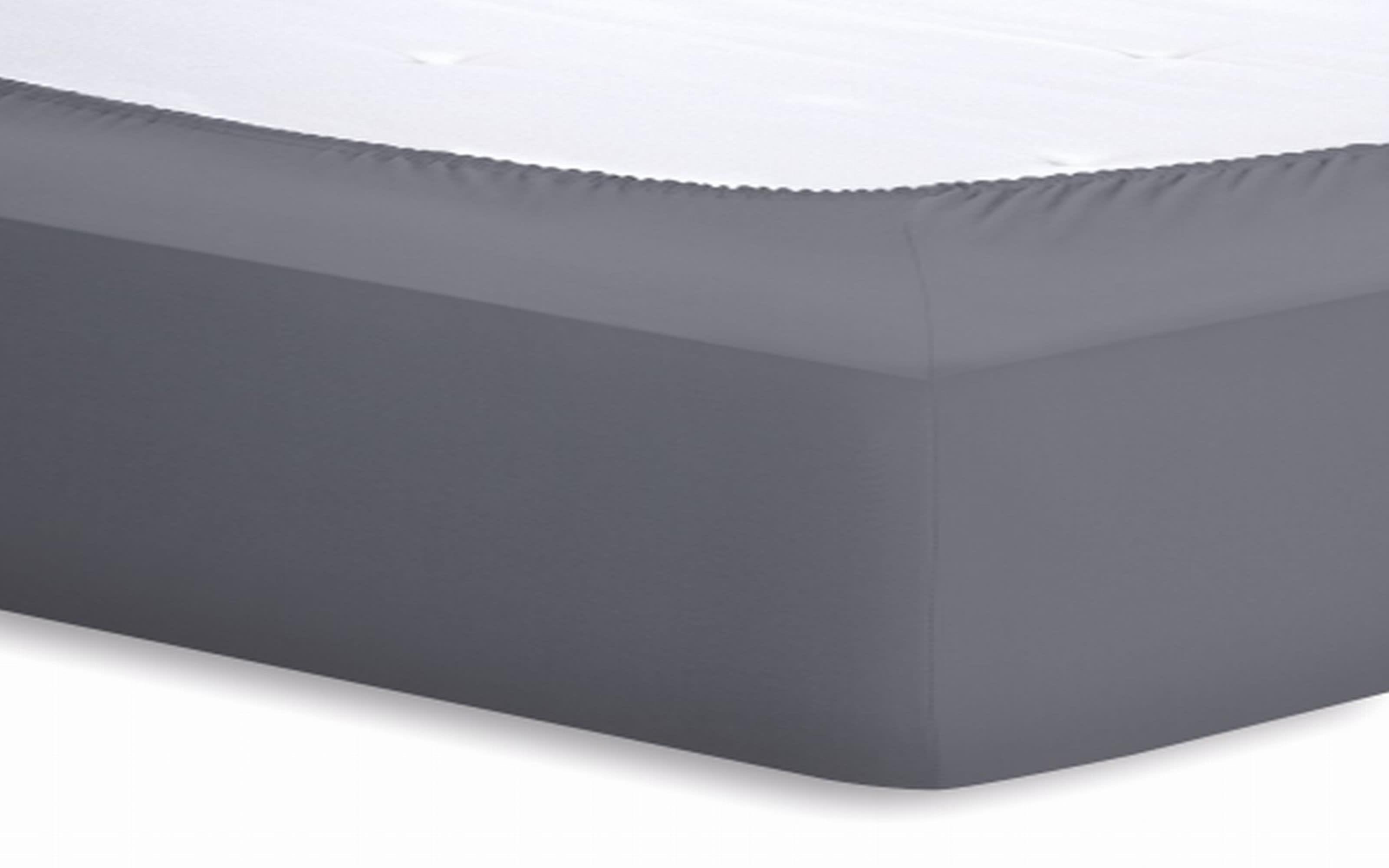 Spannbetttuch Basic in graphit, 140 x 200 x 25 cm