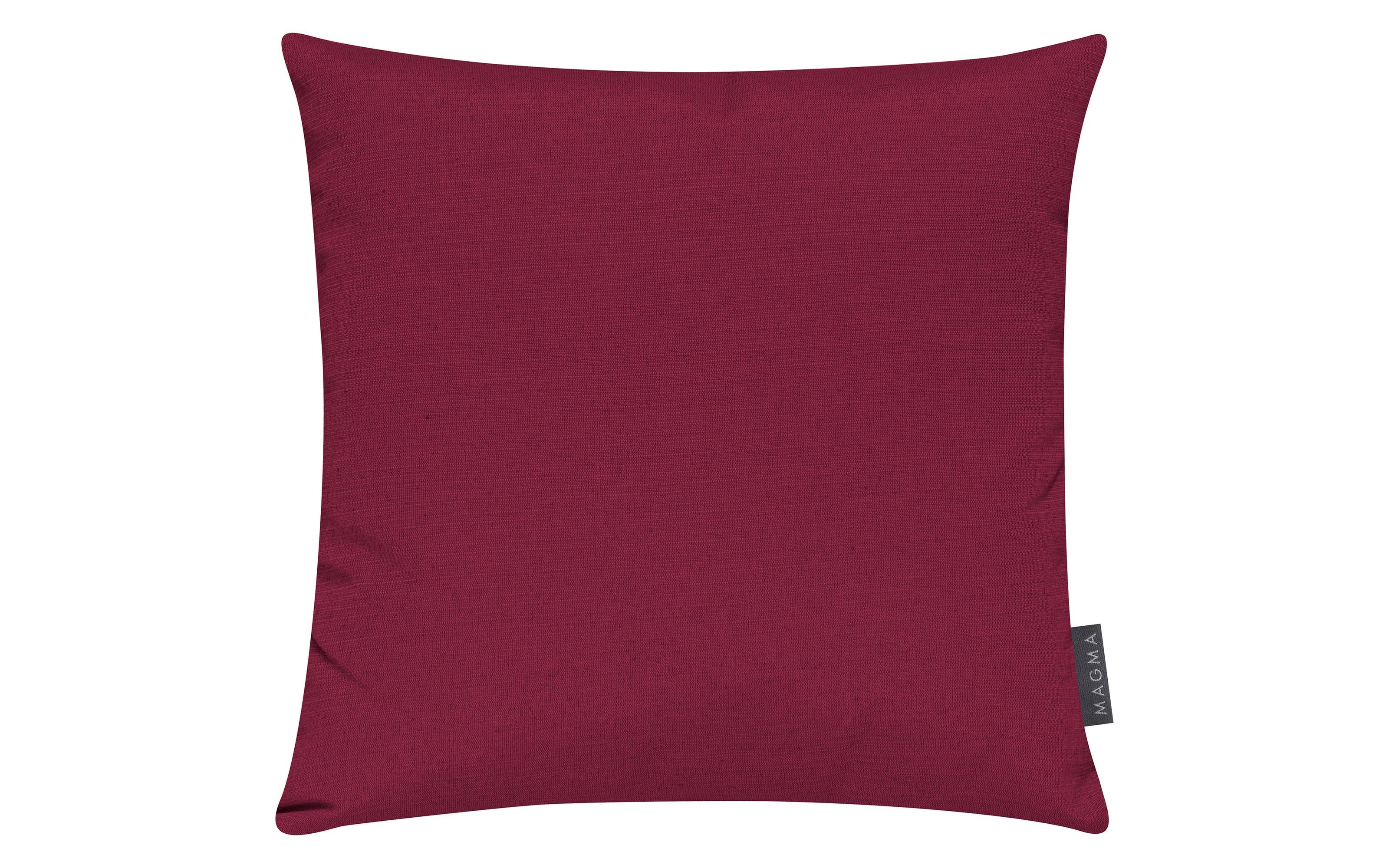 Kissenhülle Fino in rot, 50 x 50 cm