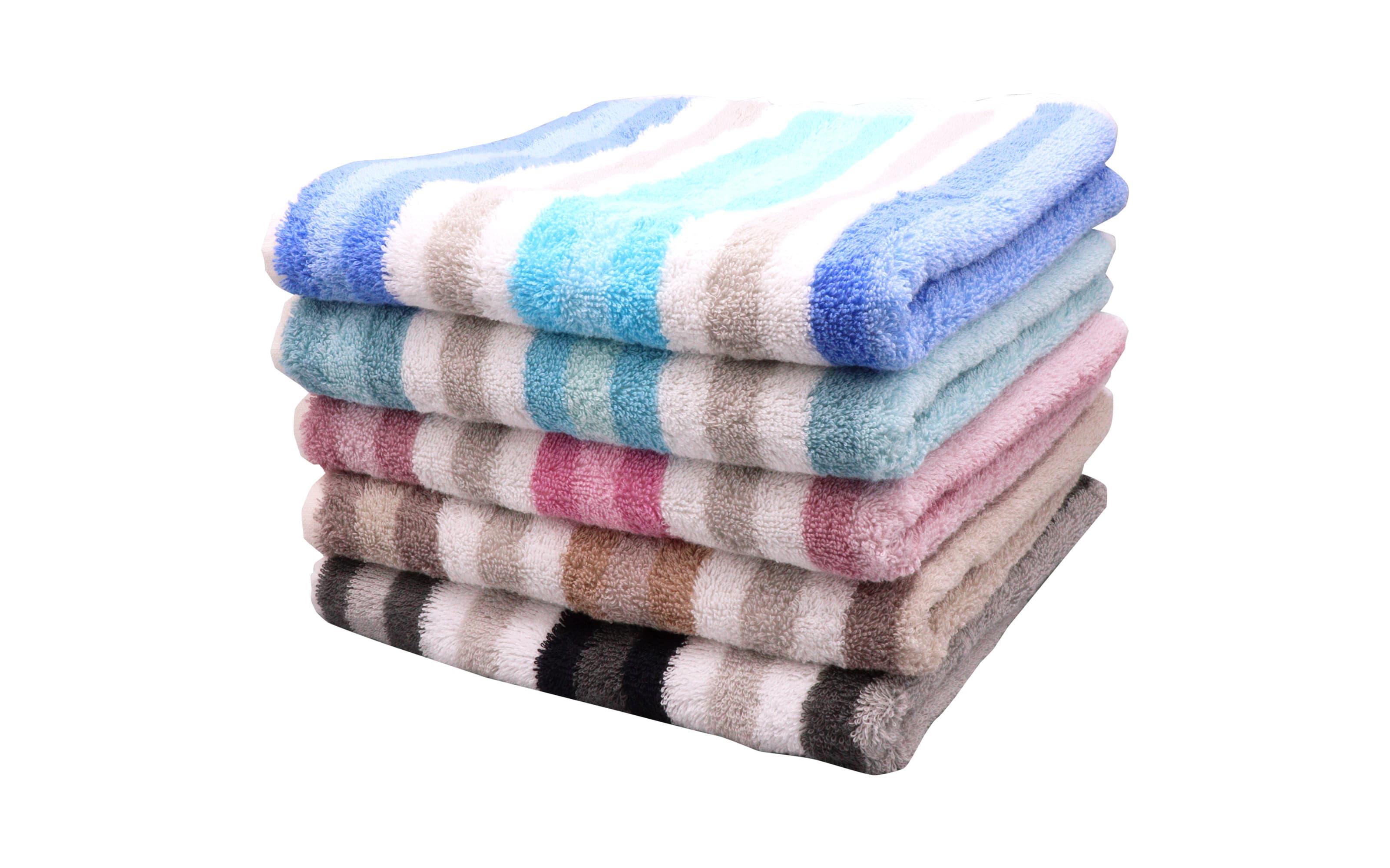 Handtuch Streifen in blau, 50 x 100 cm