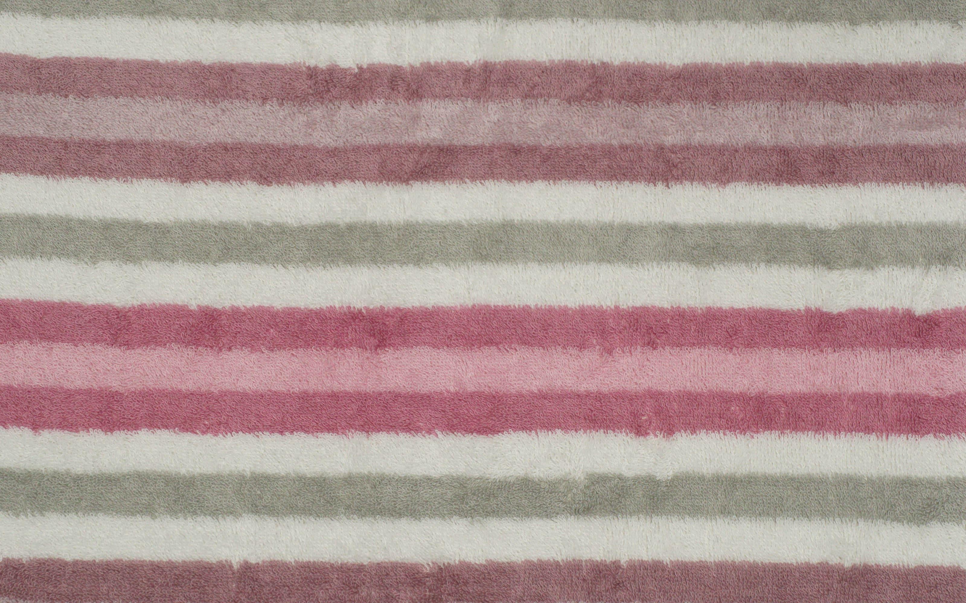 Handtuch Streifen in rose, 50 x 100 cm