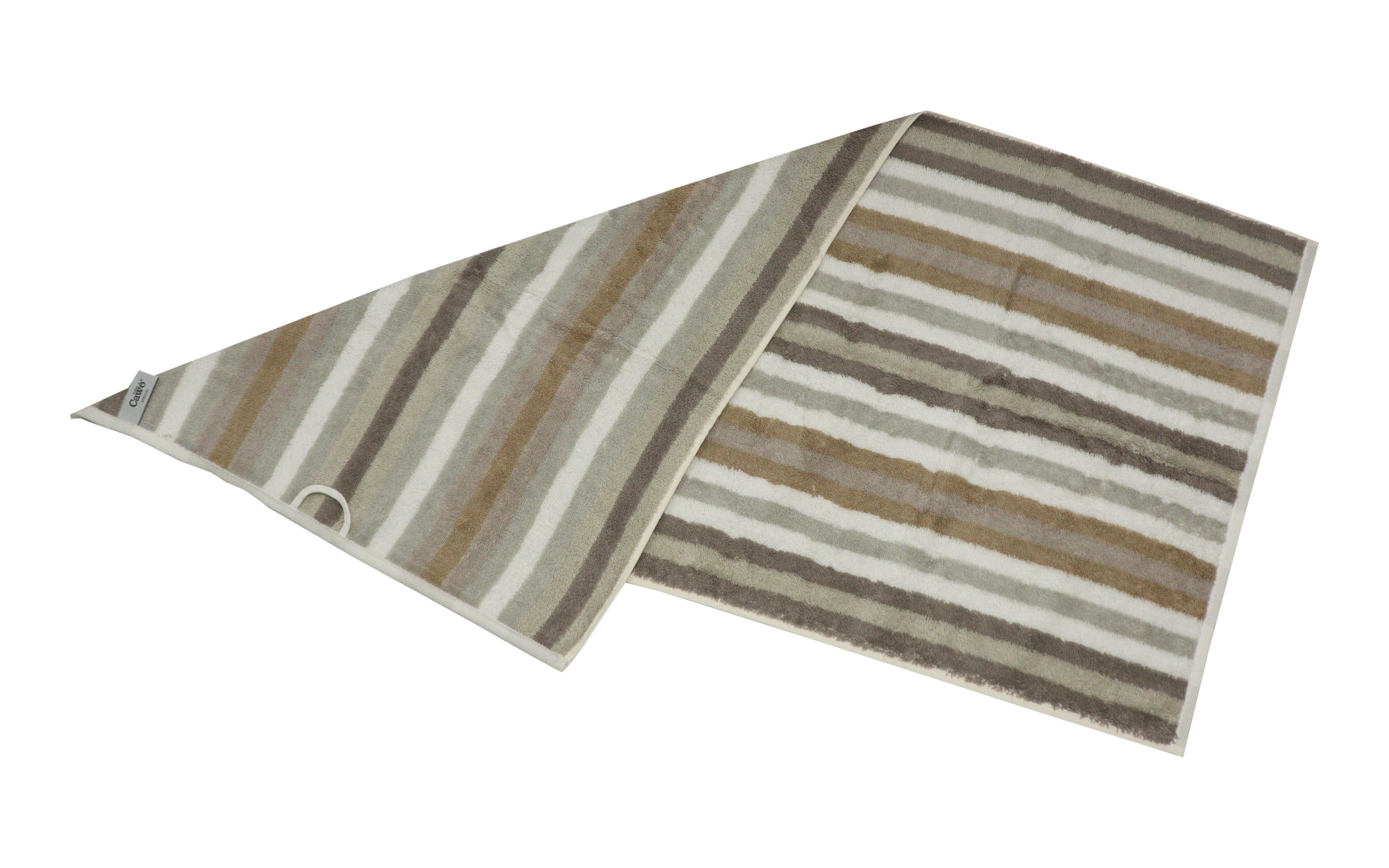 Handtuch Streifen in beige, 50 x 100 cm