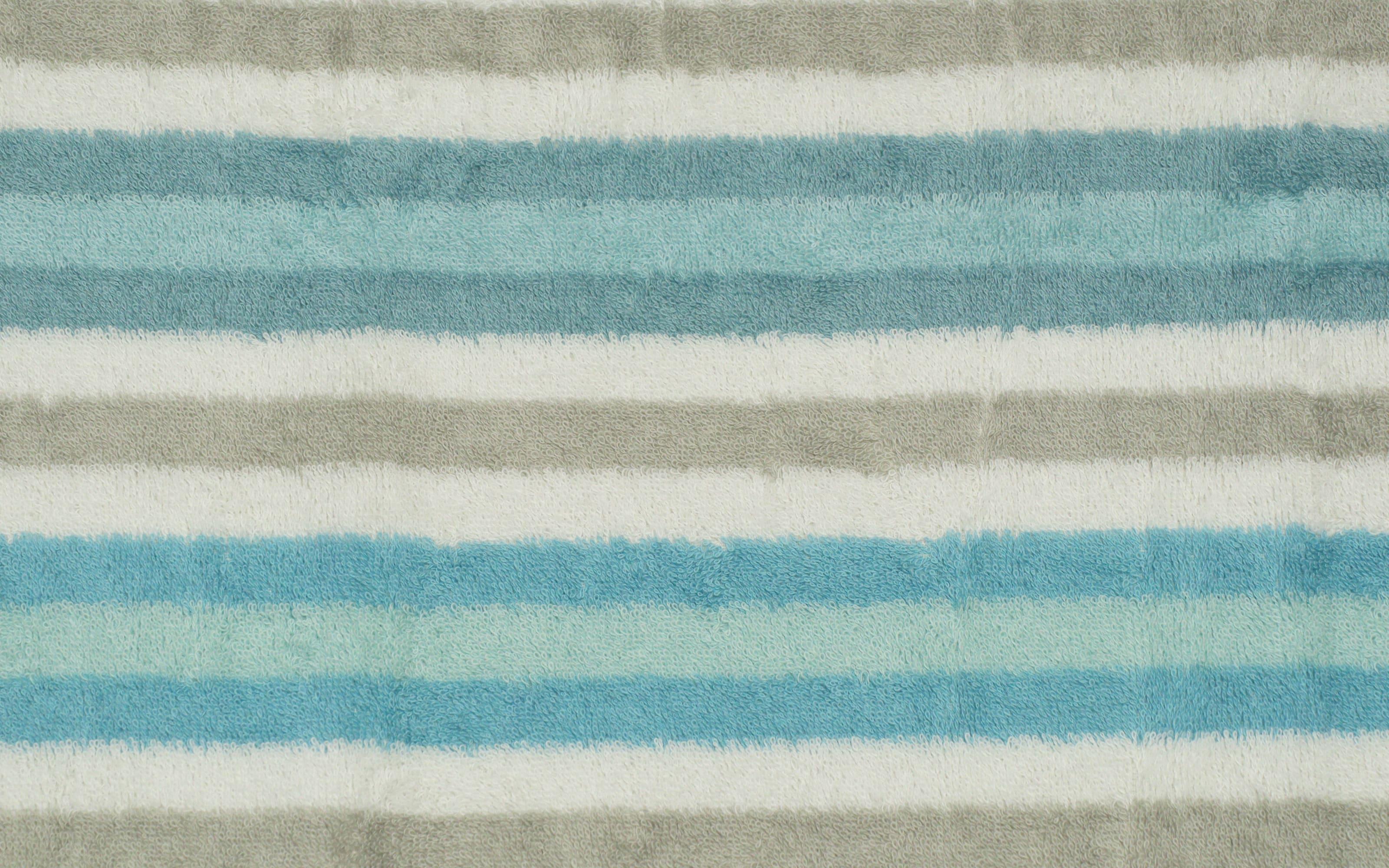 Handtuch Streifen in mint, 50 x 100 cm