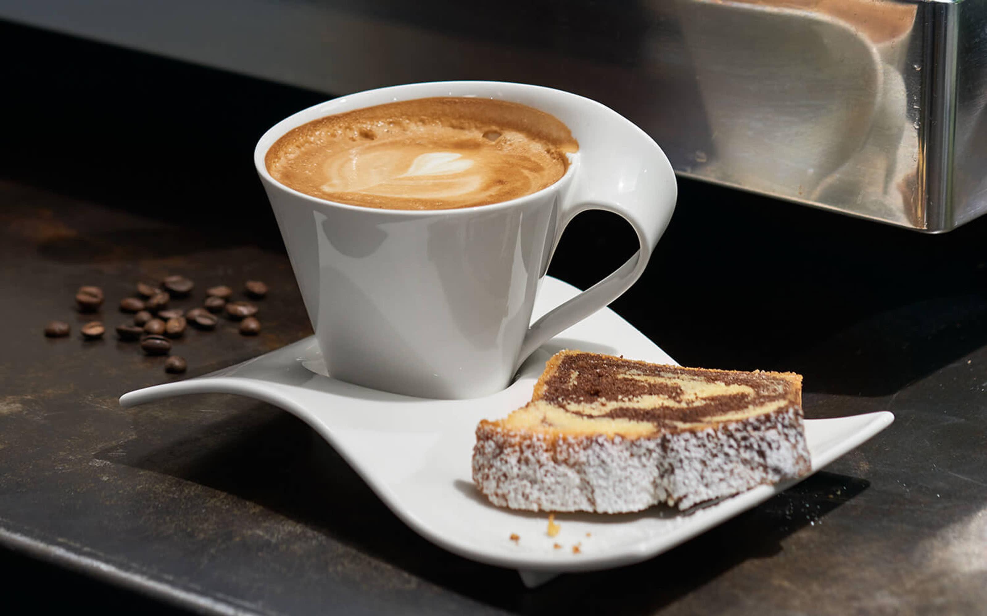 Cafe au lait Obertasse New Wave Cafe in weiß, 0,4 l