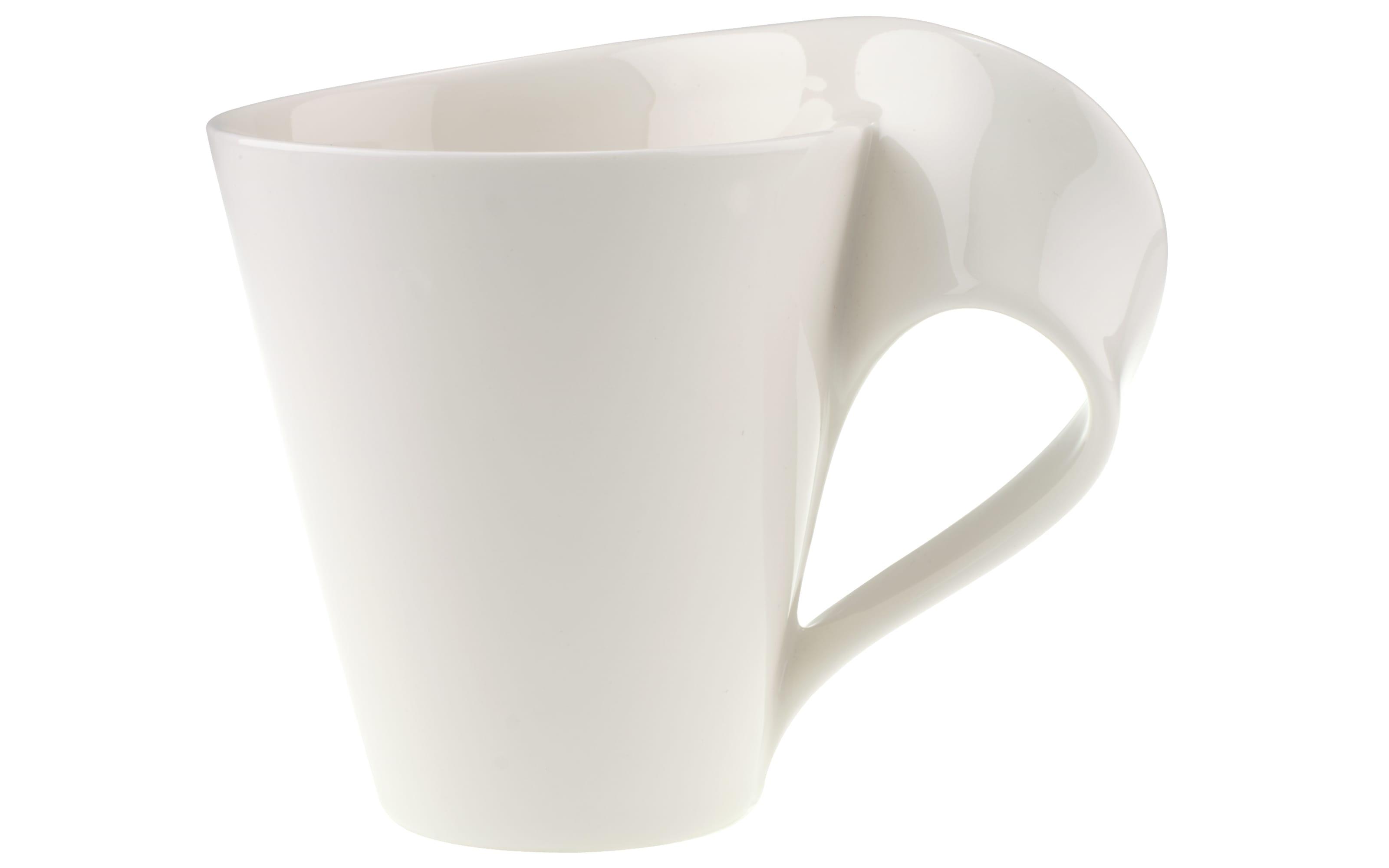Becher New Wave Cafe in weiß, 0,35 l