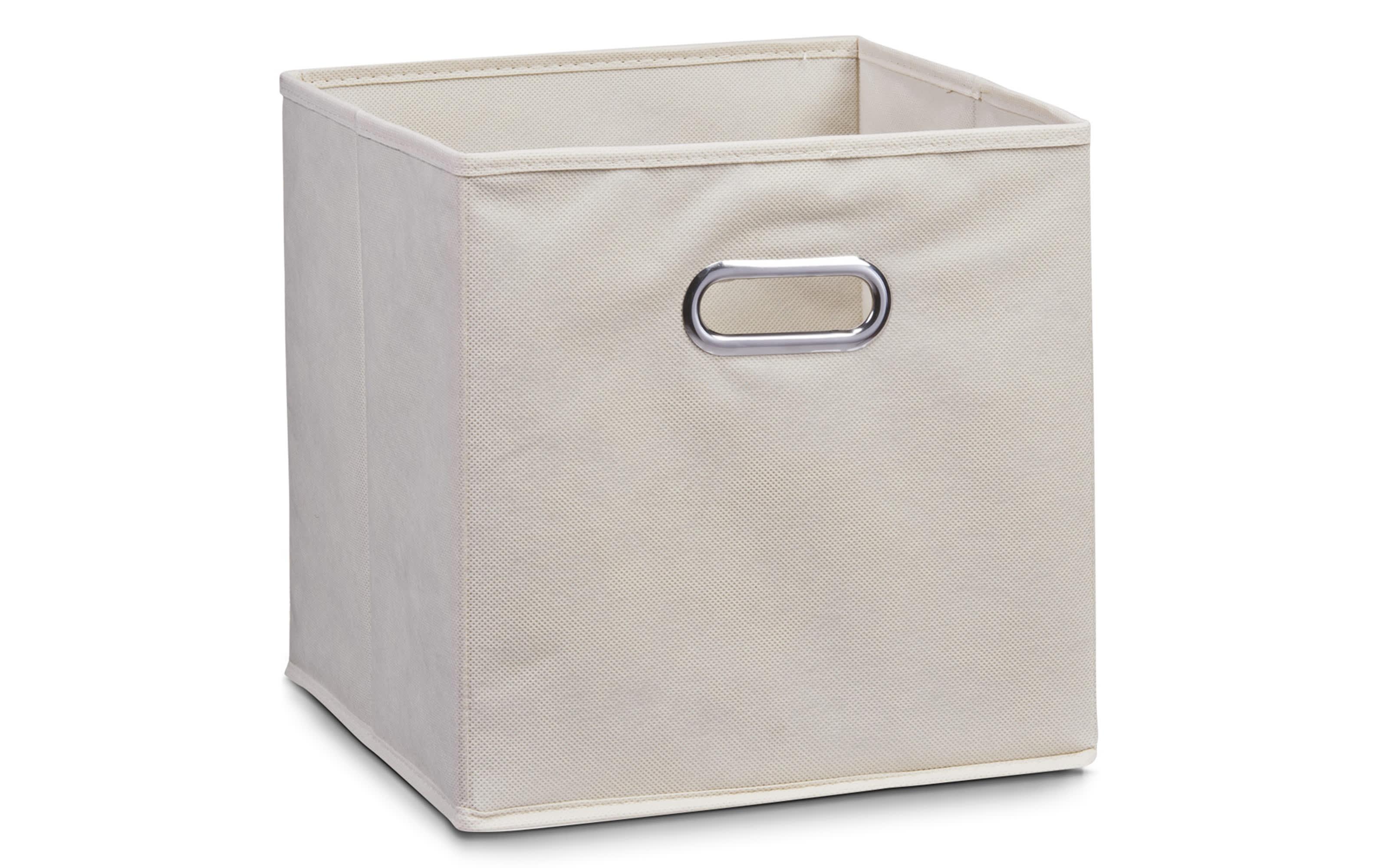 Aufbewahrungsbox in beige, 28 x 28