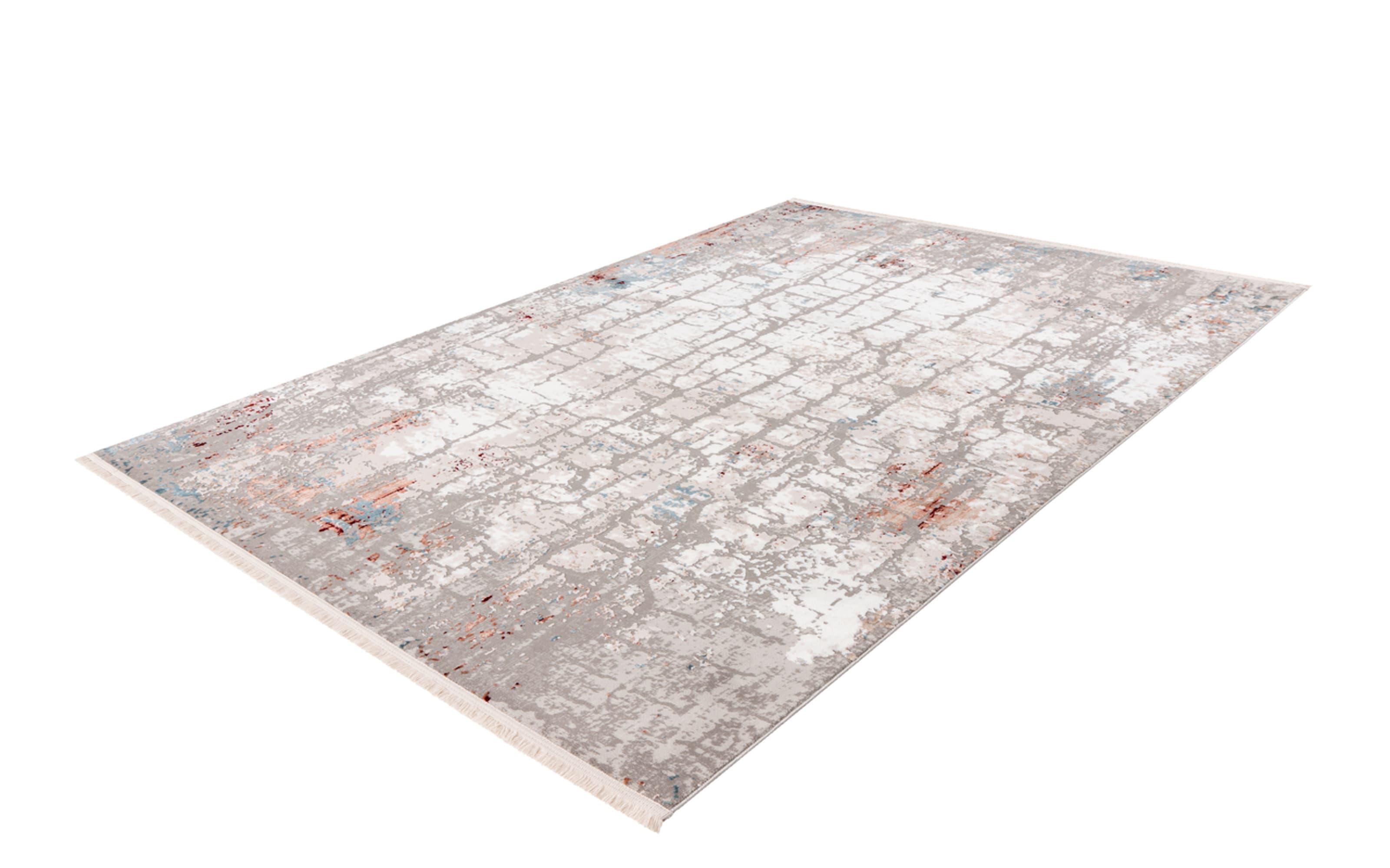 Teppich Akropolis 125 in grau/lachsrosa, ca. 120 x 180 cm