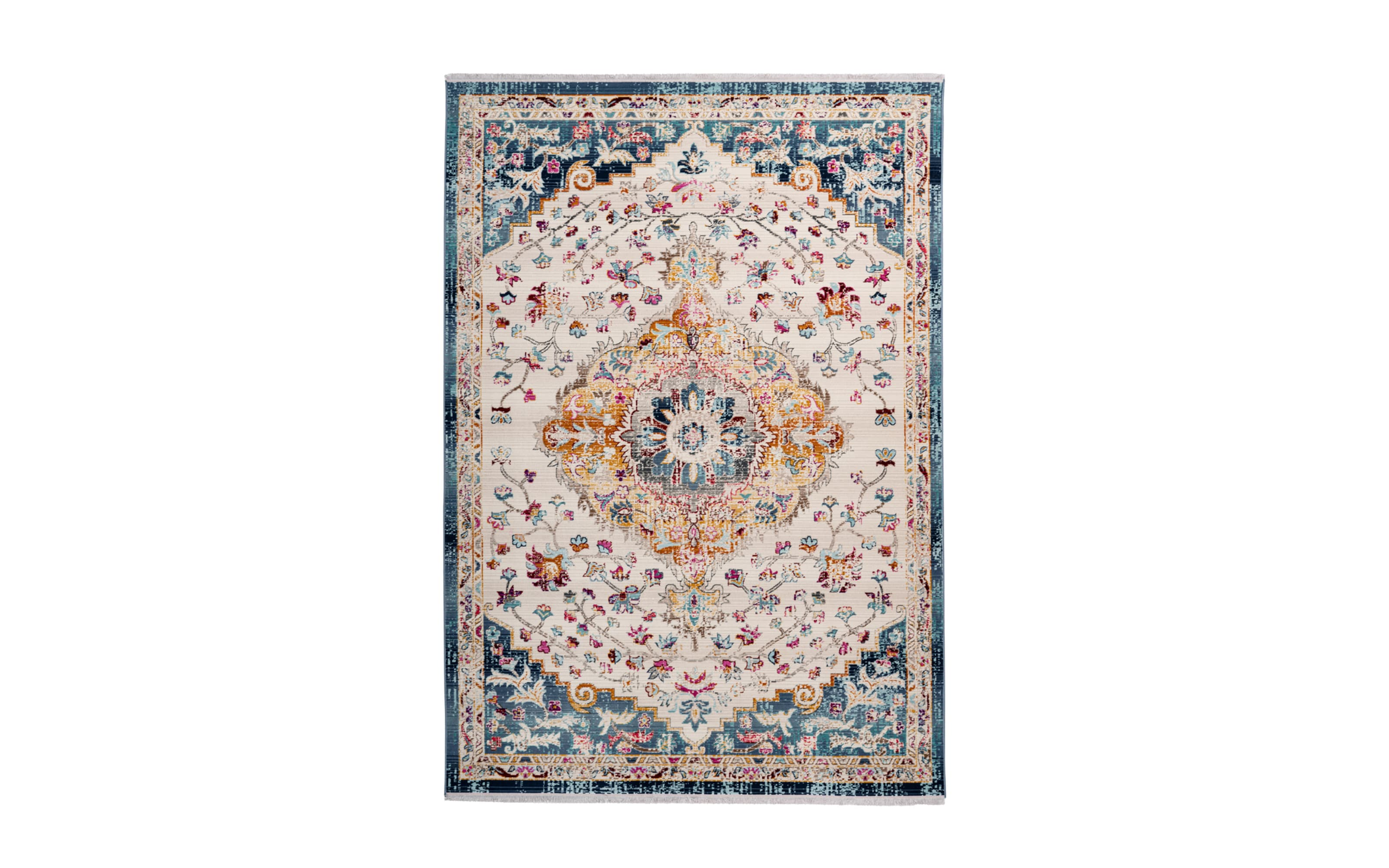 Teppich Anouk 1025 in weiß/blau, 160 x 230 cm