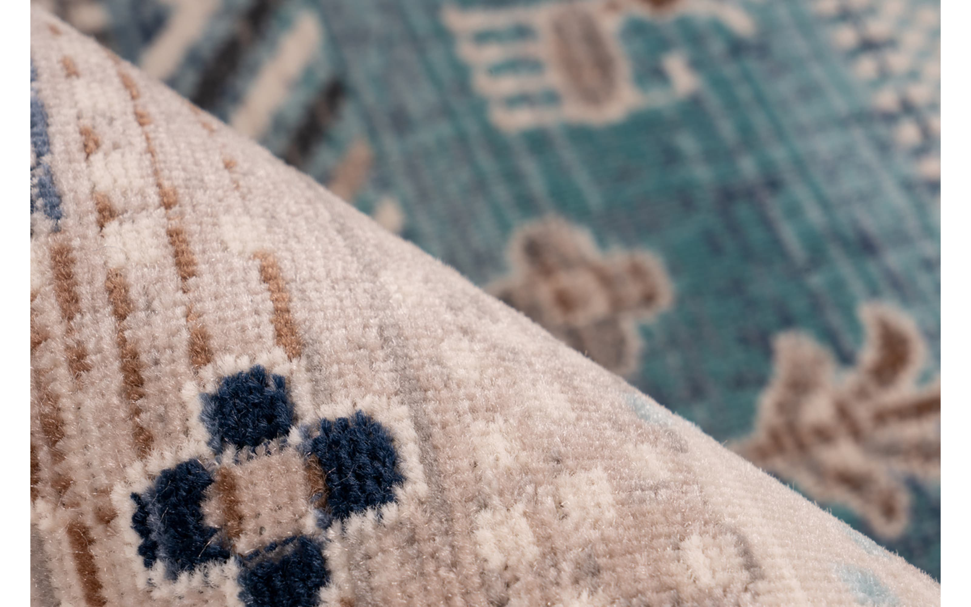 Teppich Anouk 525 in braun/blau, 80 x 150 cm