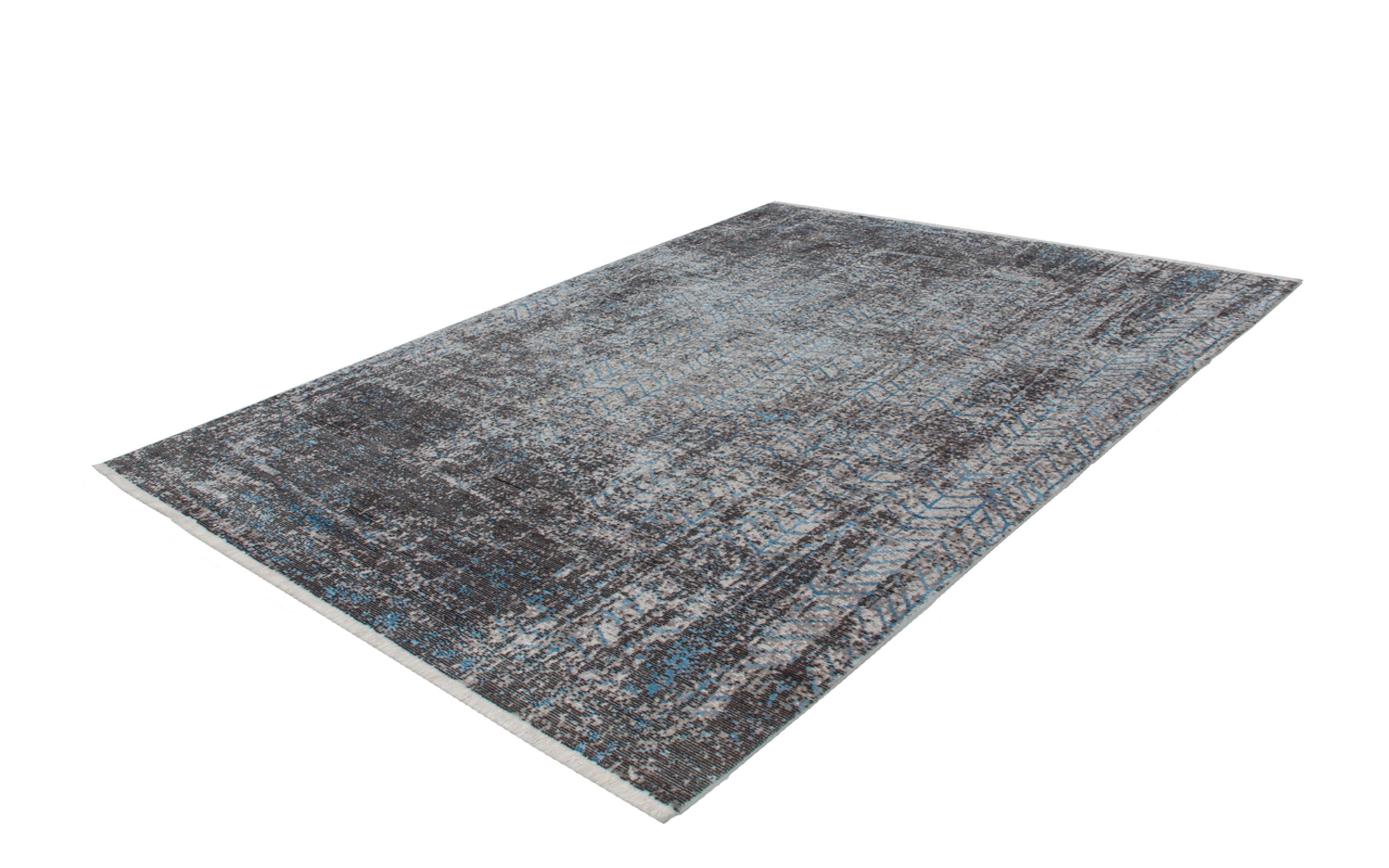 Teppich Antigua 300 in grau-türkis, 80 x 150 cm