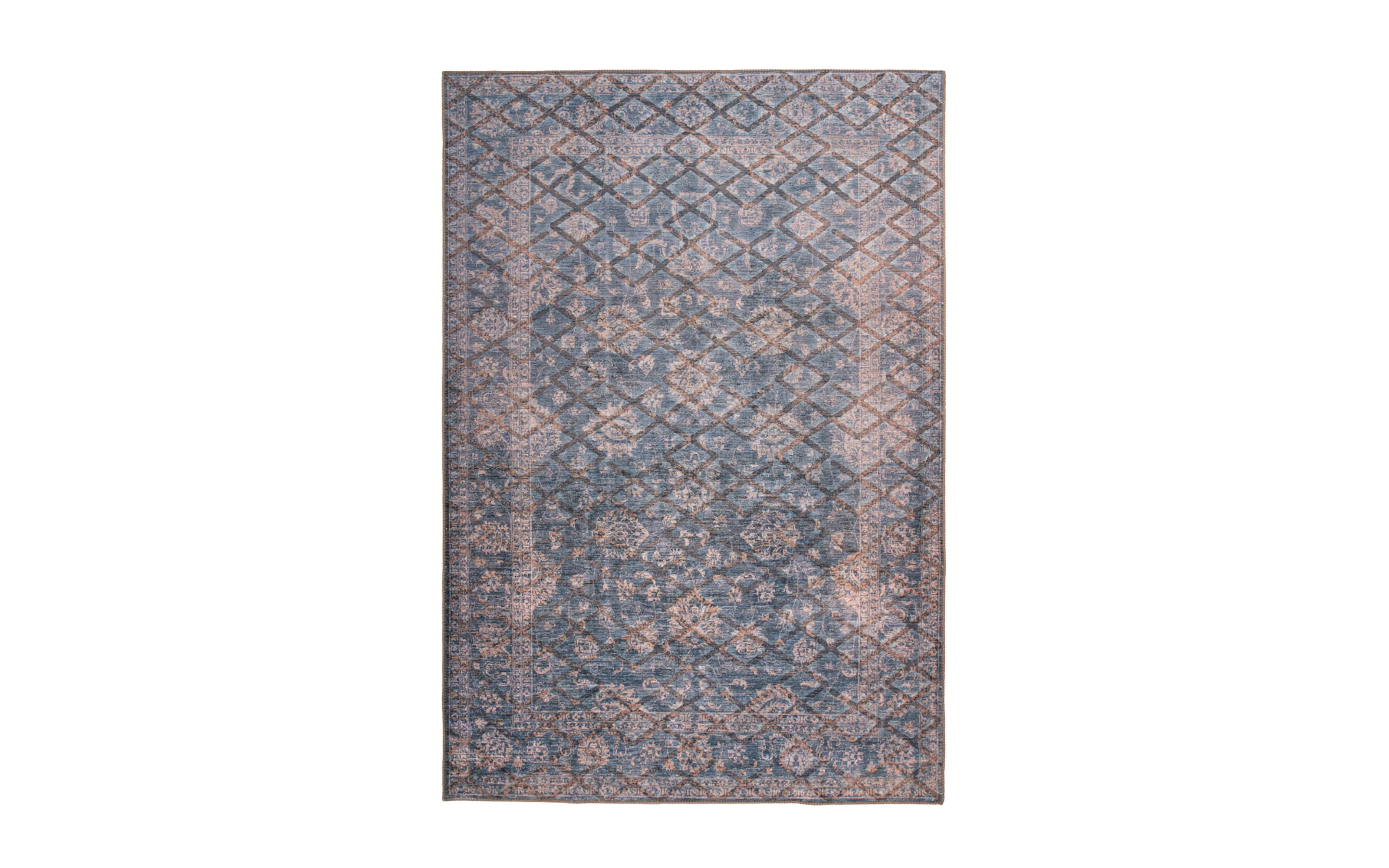 Teppich Antique 225 in blau/gold, 200 x 290 cm