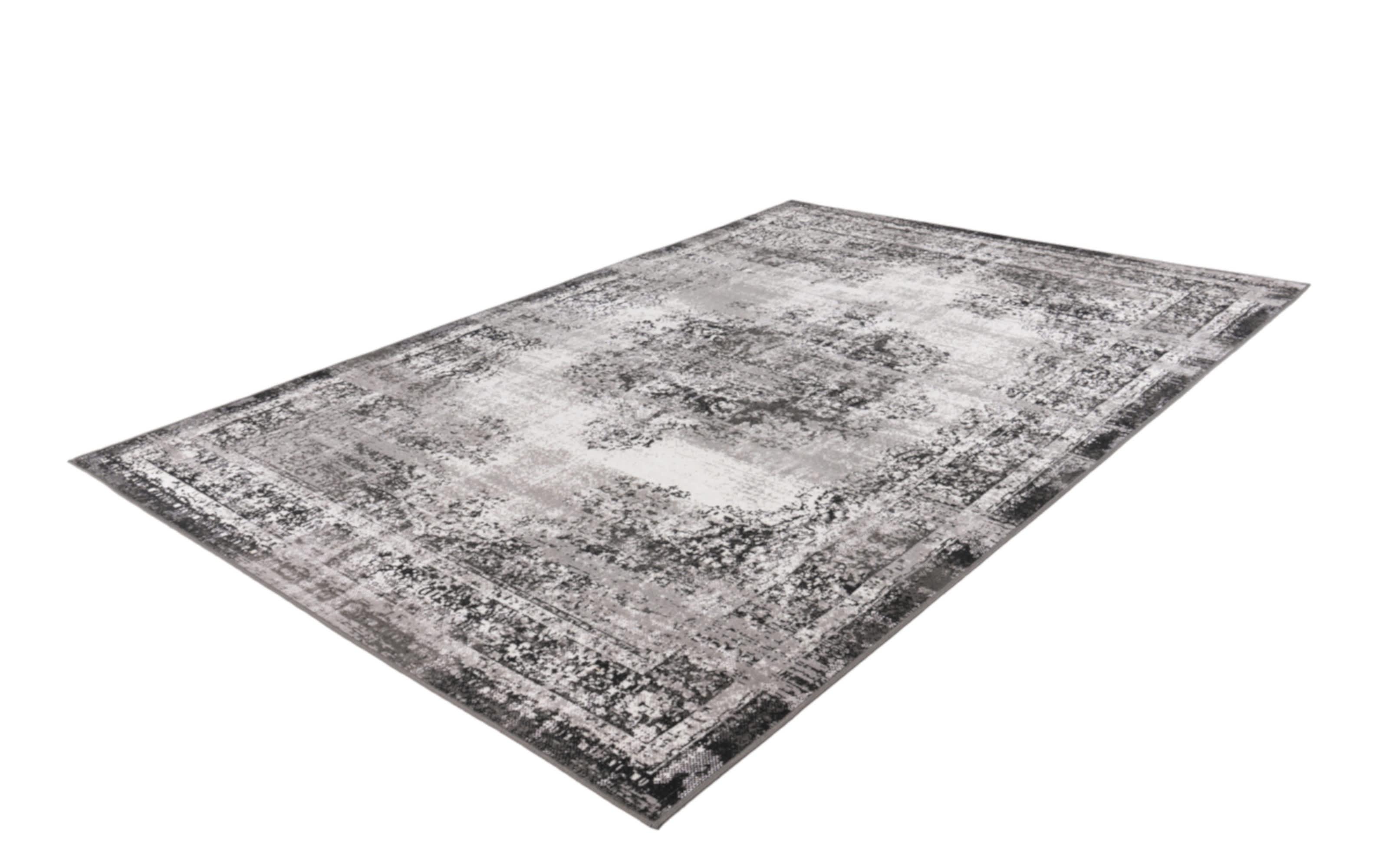 Teppich Ariya 225 in anthrazit, 80 x 150 cm