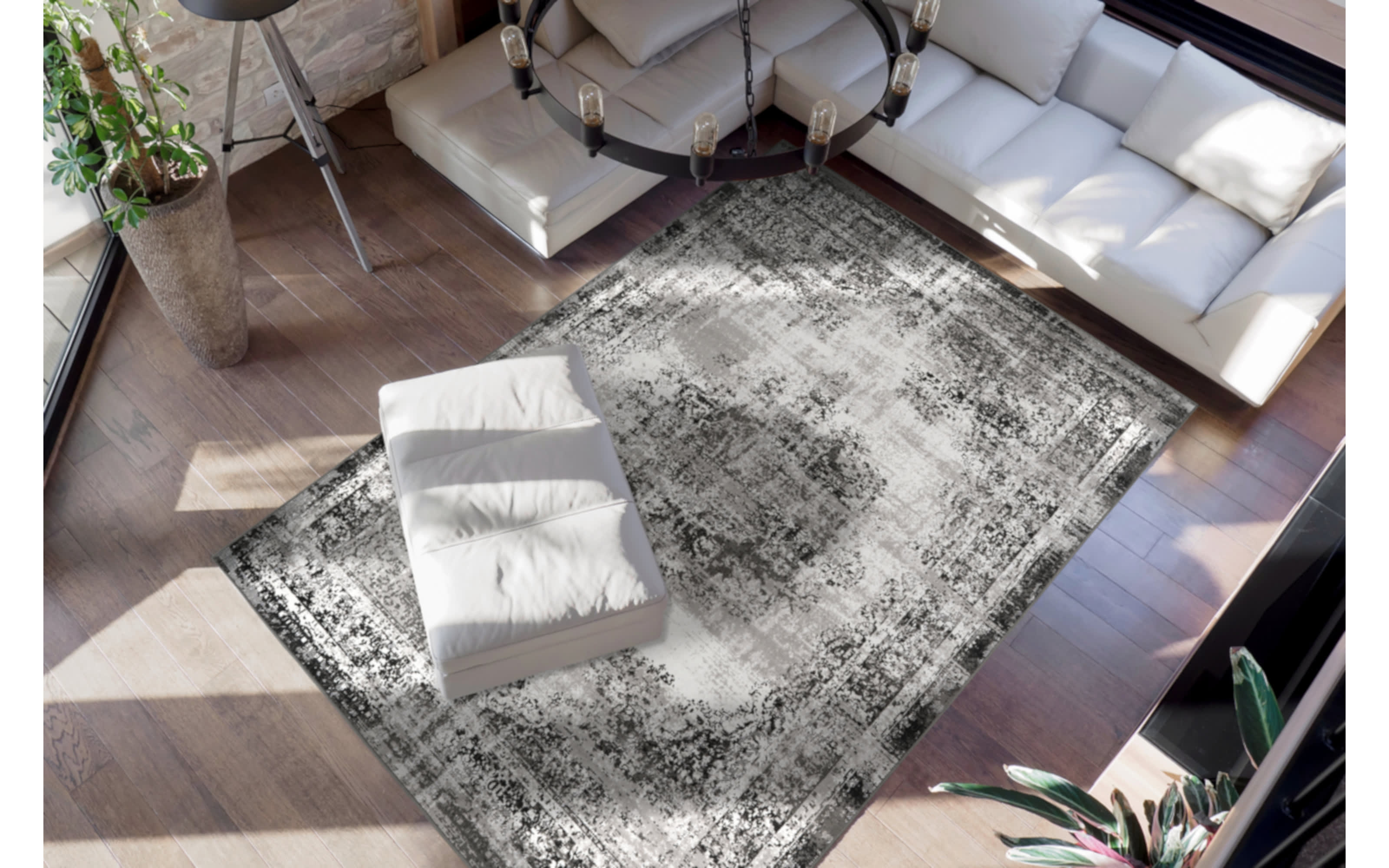 Teppich Ariya 225 in anthrazit, 120 x 170 cm
