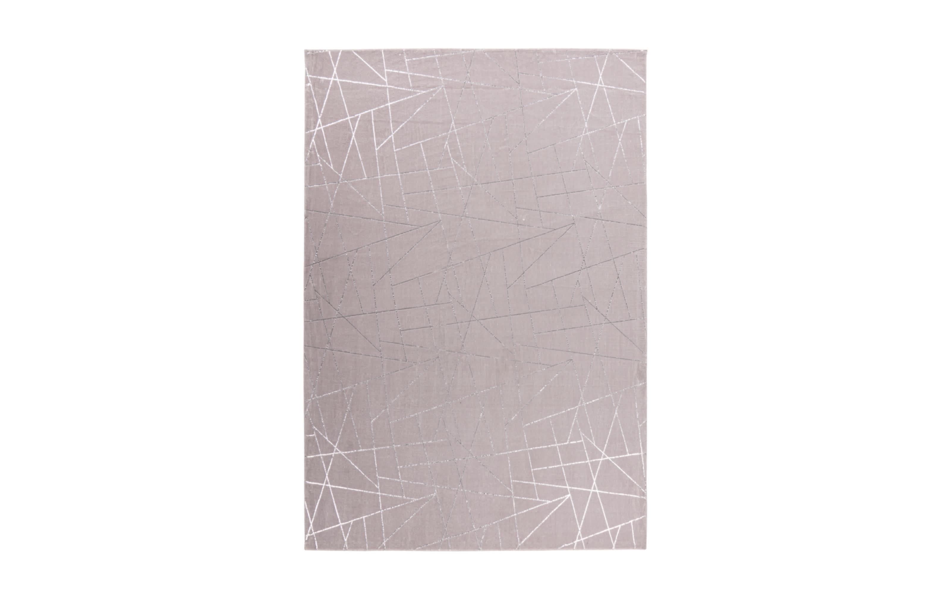 Teppich Bijou 125 in taupe/silber, ca. 120 x 170 cm