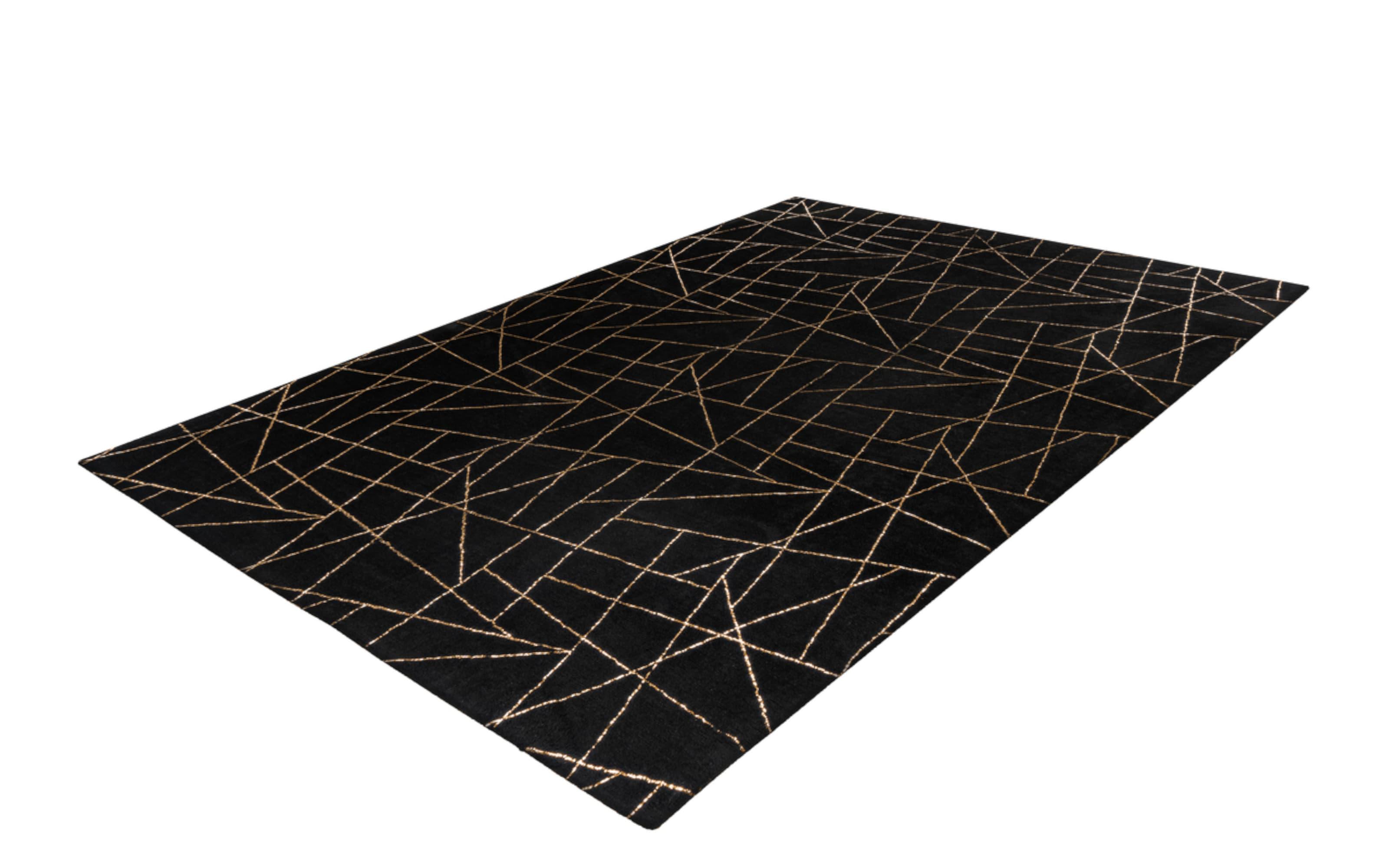 Teppich Bijou 125 in schwarz/gold, ca. 120 x 170 cm