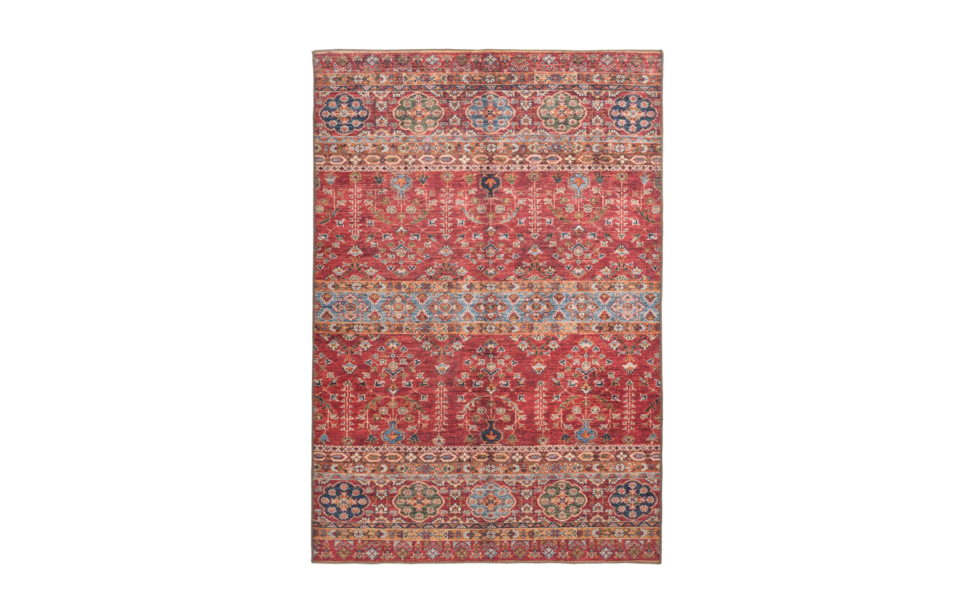 Teppich Faye 325 in multi/rot, ca. 110 x 180 cm