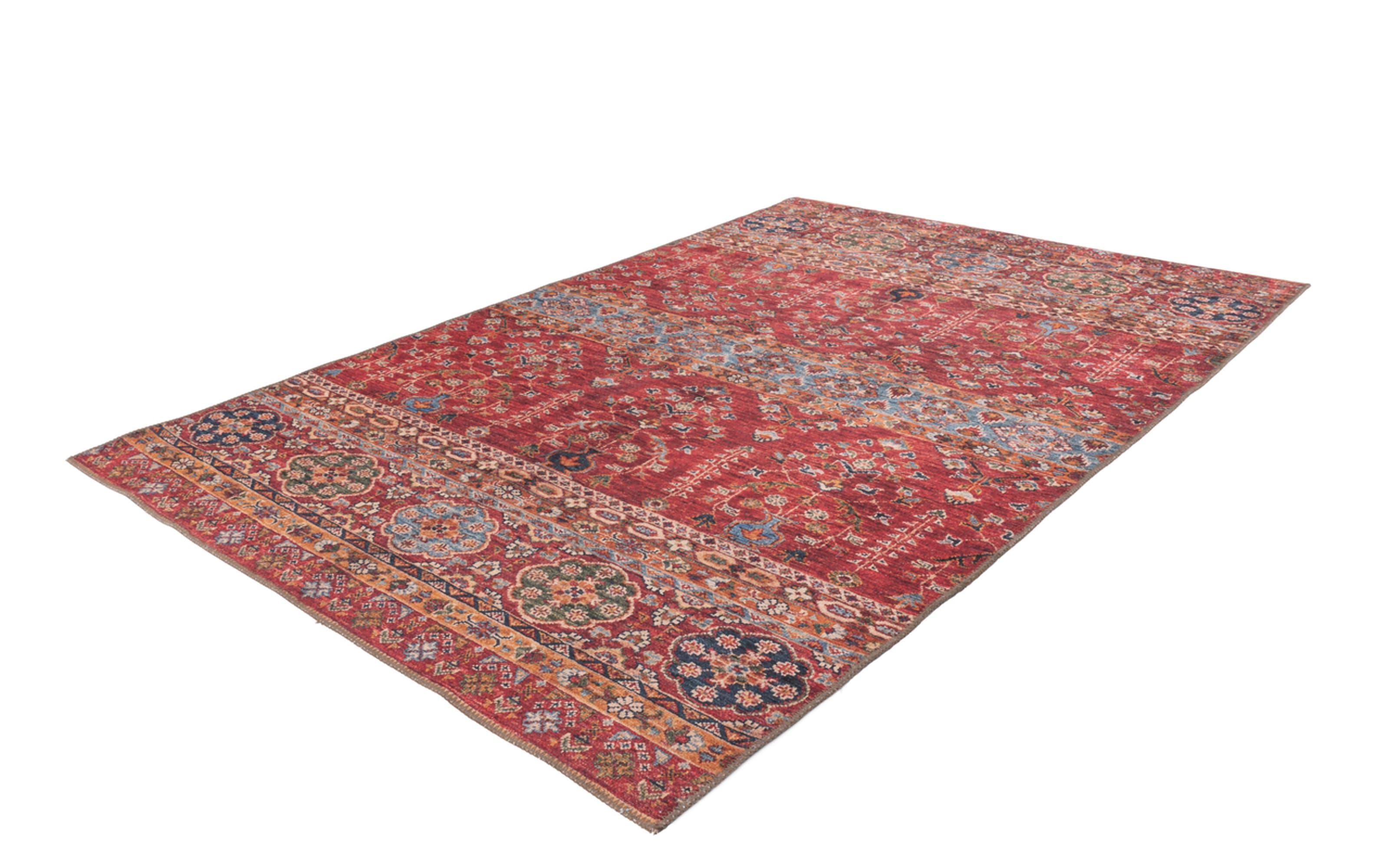 Teppich Faye 325 in multi/rot, ca. 75 x 150 cm